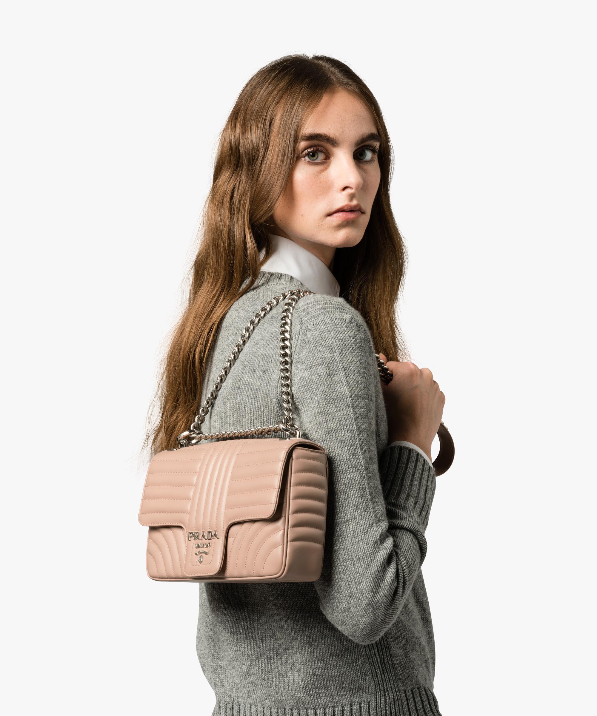 7d518df82058 Prada Diagramme Leather Shoulder Bag - Lyst