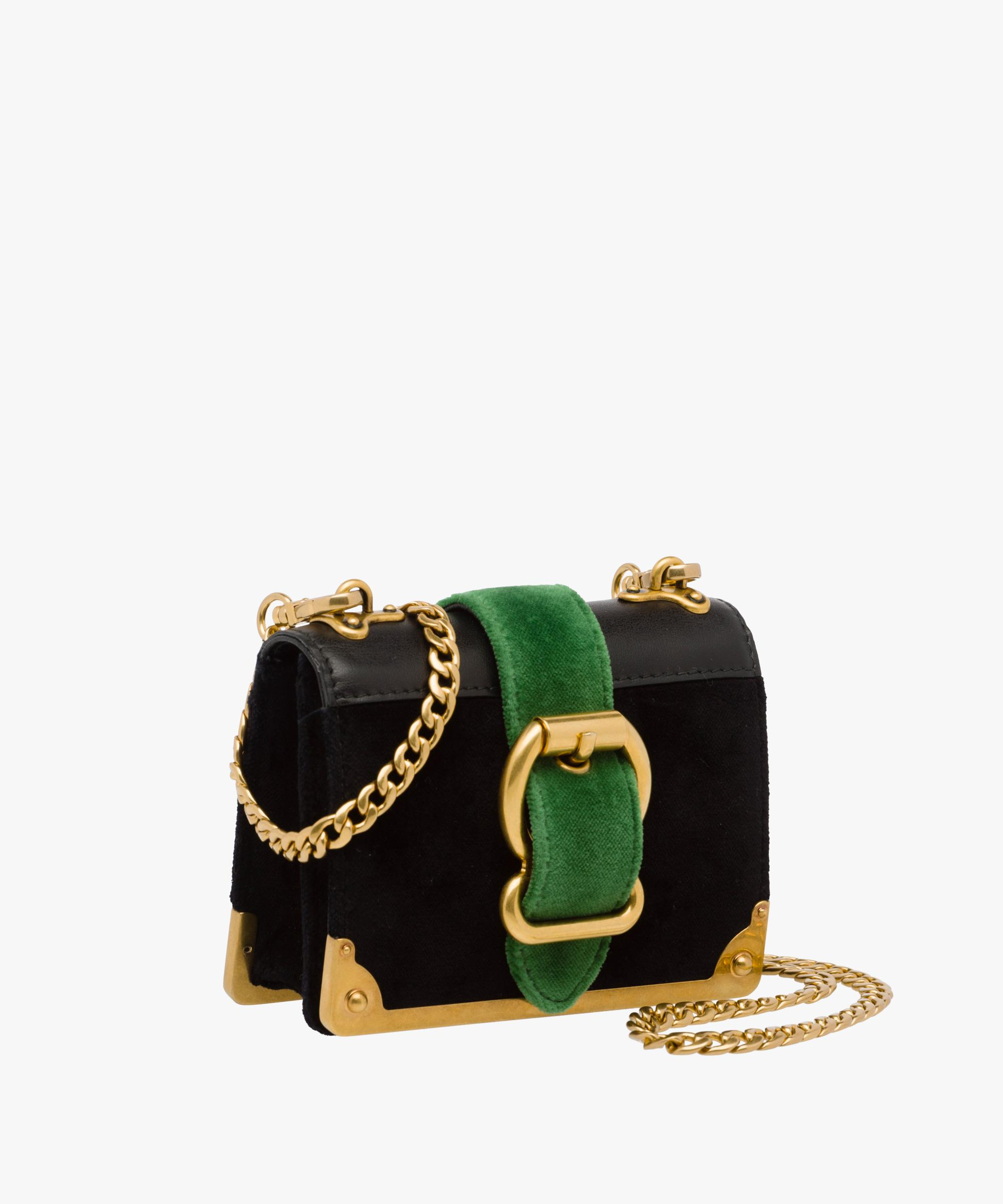 11e123d5ea439d Prada Micro Cahier Bag in Black - Lyst