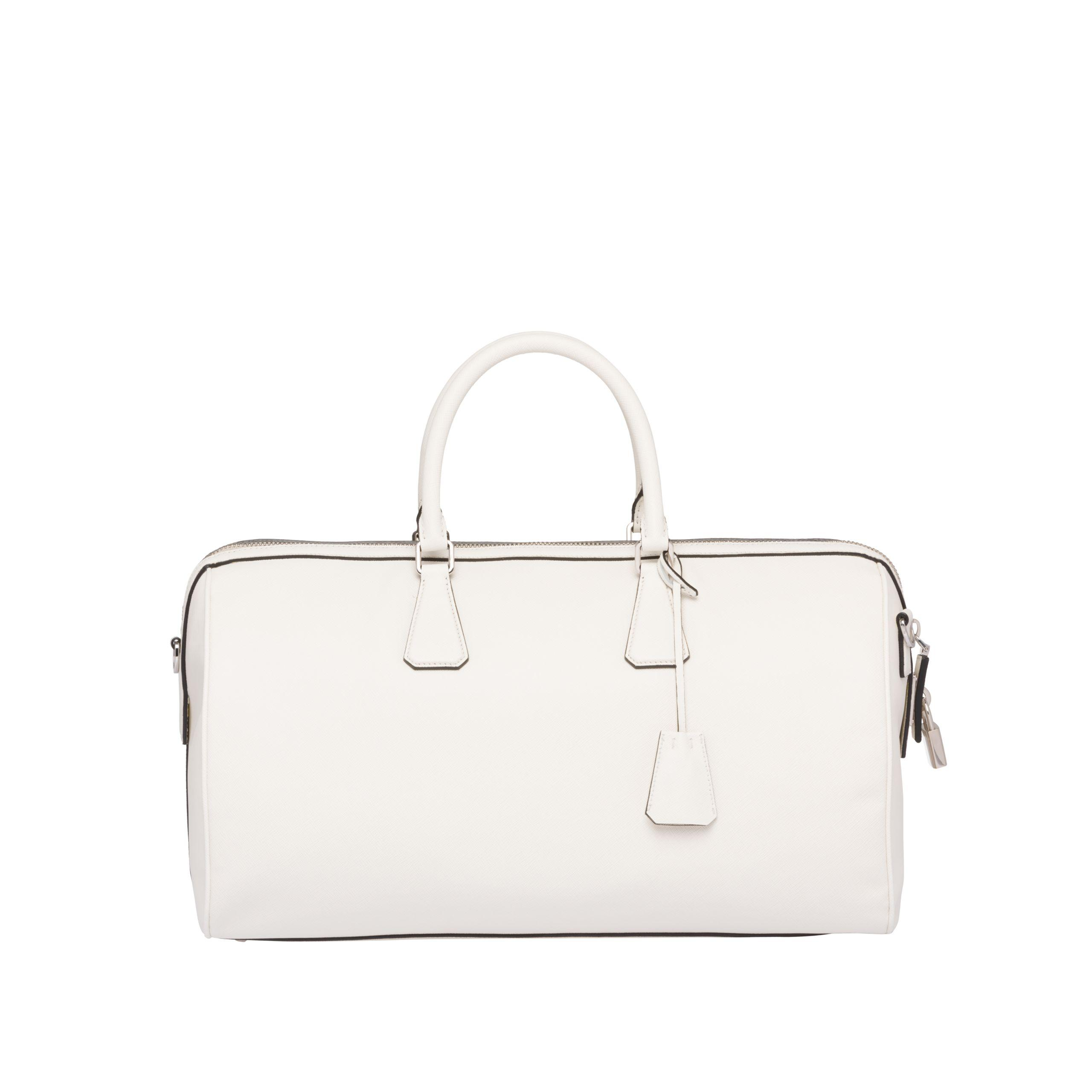 3fea50e35792 Prada - Multicolor Printed Saffiano Leather Travel Bag for Men - Lyst. View  fullscreen