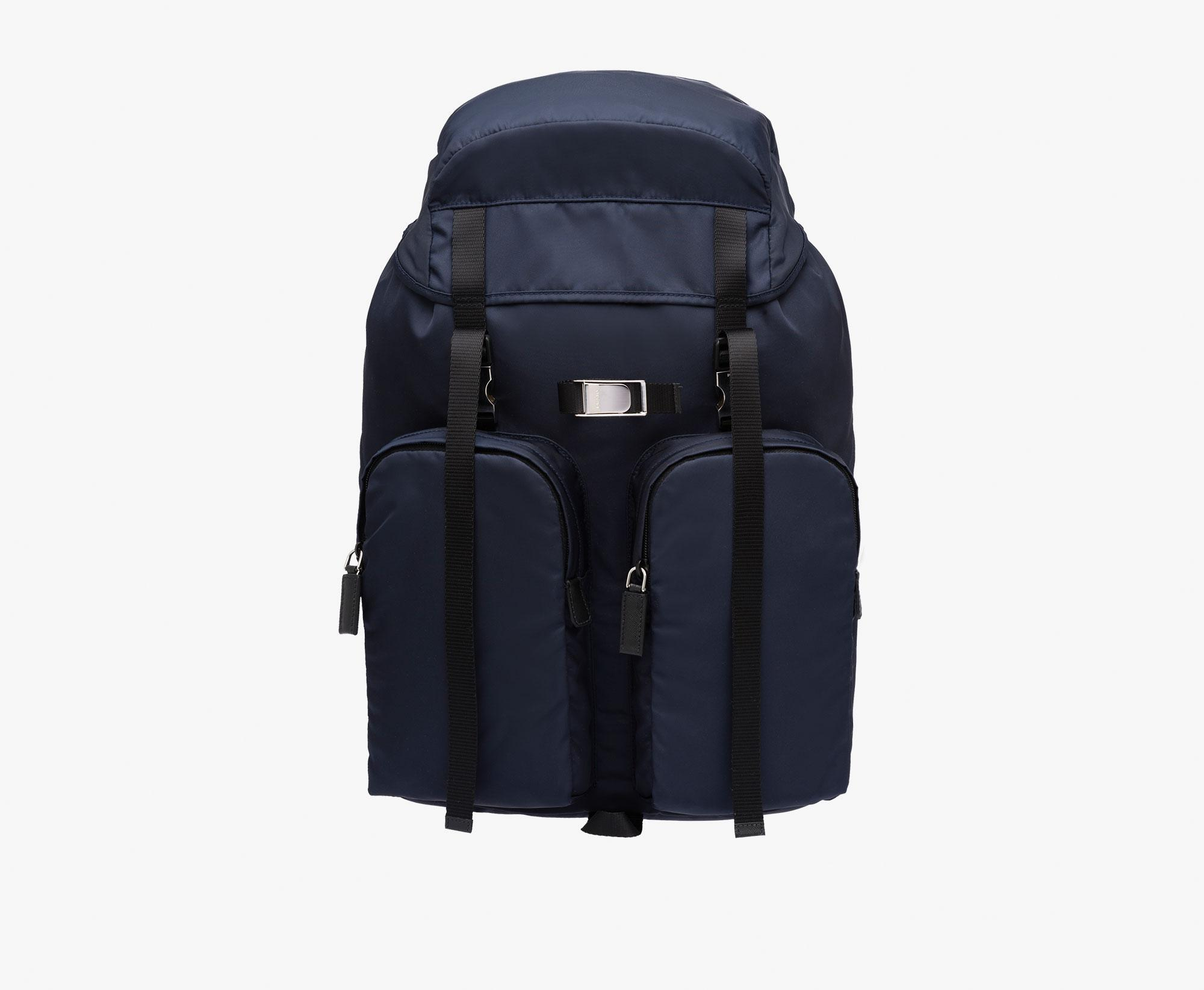 d9b4ce87b39be1 ... sale lyst prada technical fabric backpack in blue for men 1c4cb ee58f
