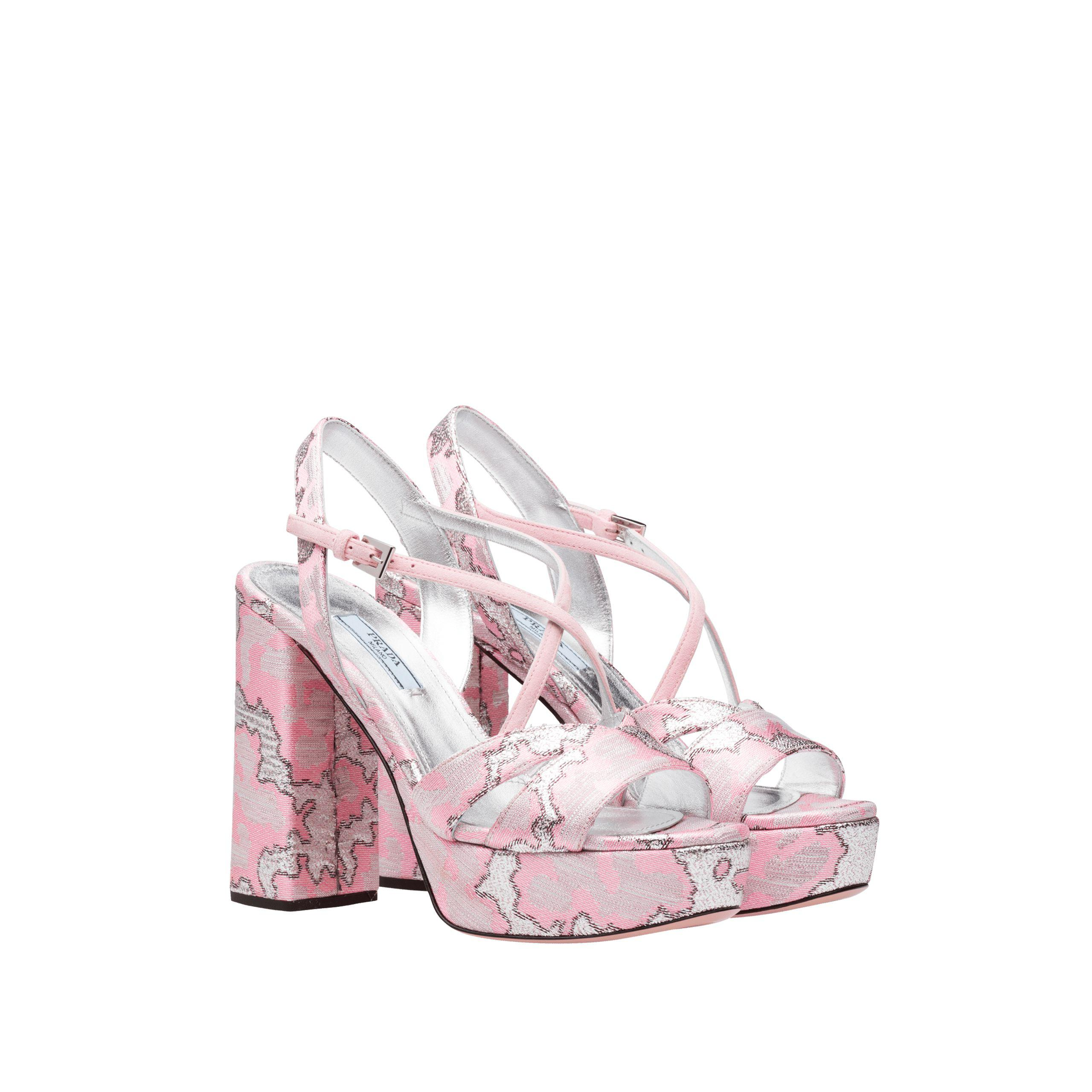 Prada Lurex Jacquard Sandal discount authentic cheapest price cheap online for sale official site new styles for nice cheap online YKK52