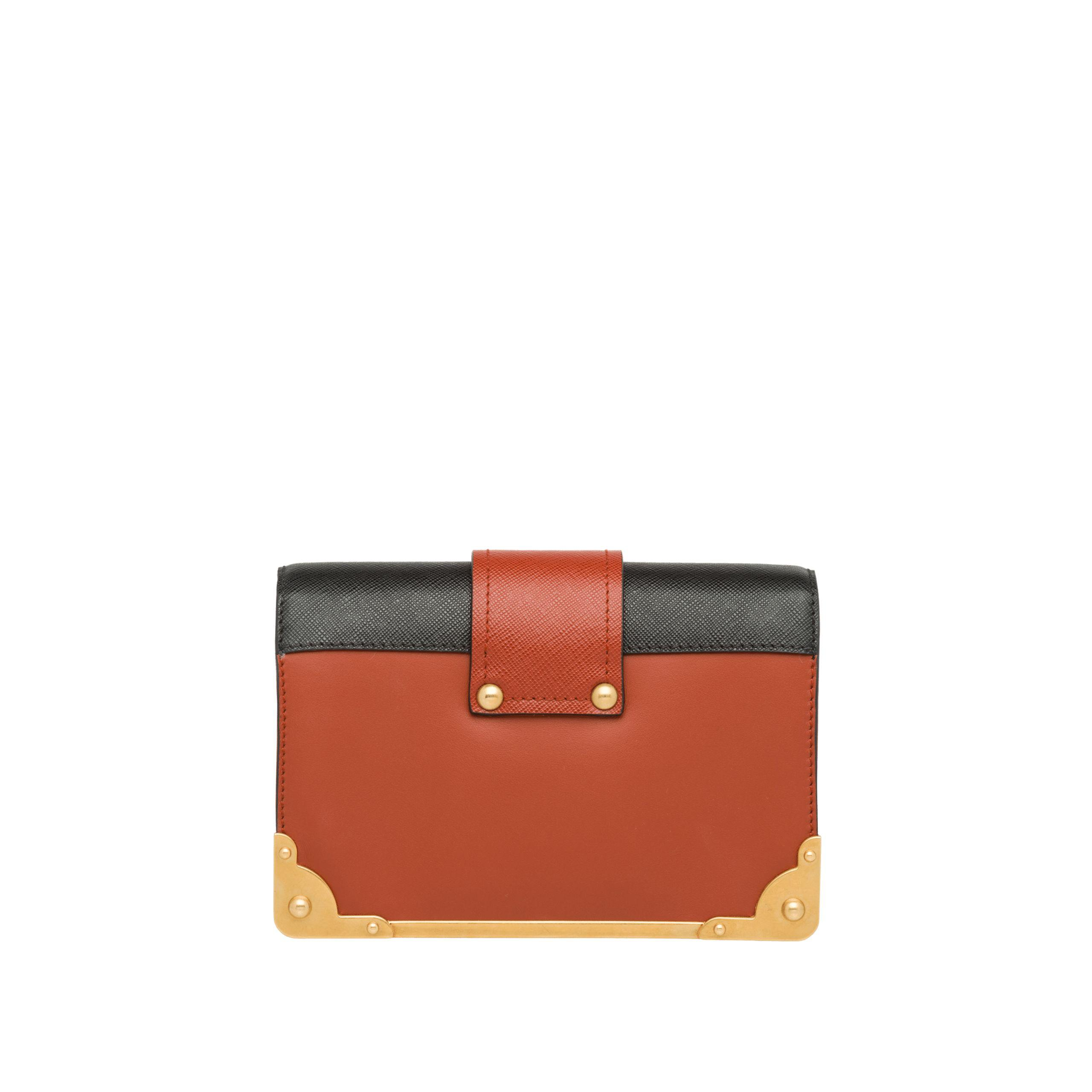 595894d7a367 Lyst - Prada Cahier Leather Shoulder Bag