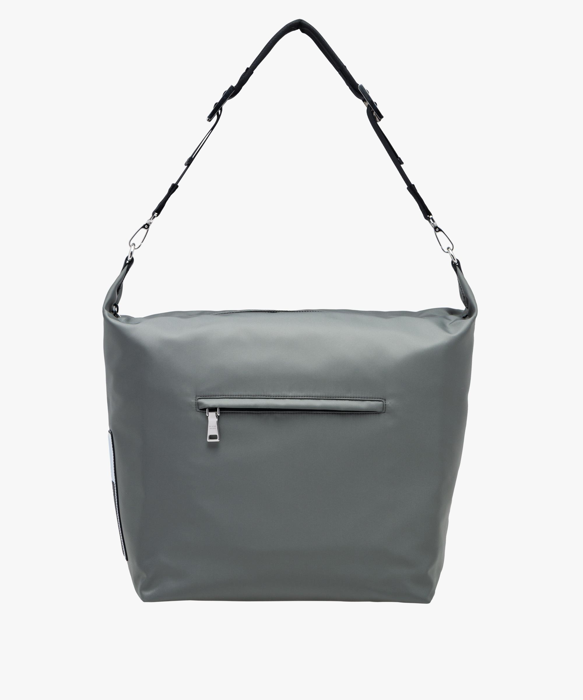 98815269e074 Lyst - Prada Technical Fabric Hobo Bag With Shoulder Strap in Gray ...