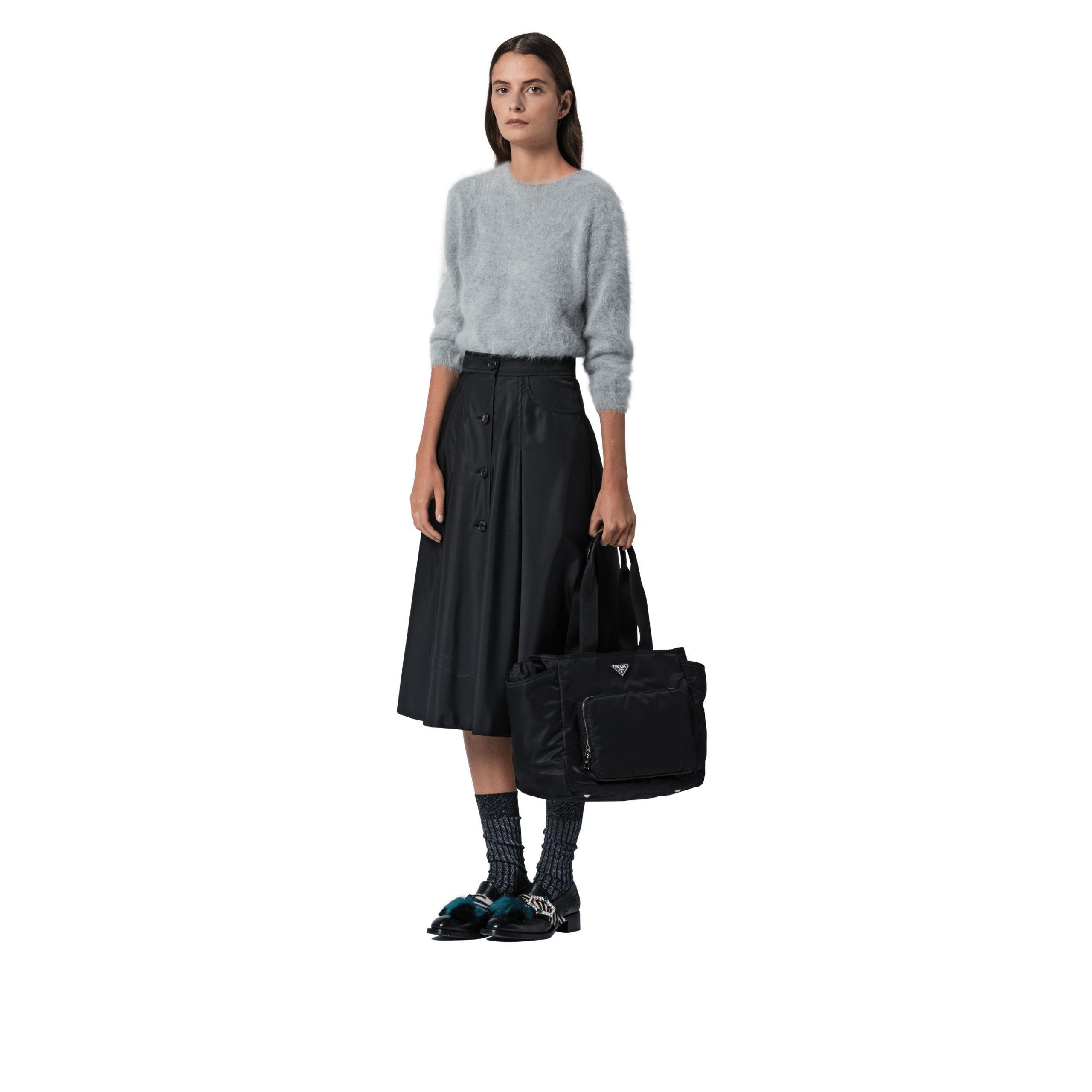 d2e4d2734f14 Lyst - Prada Fabric Baby Bag in Black