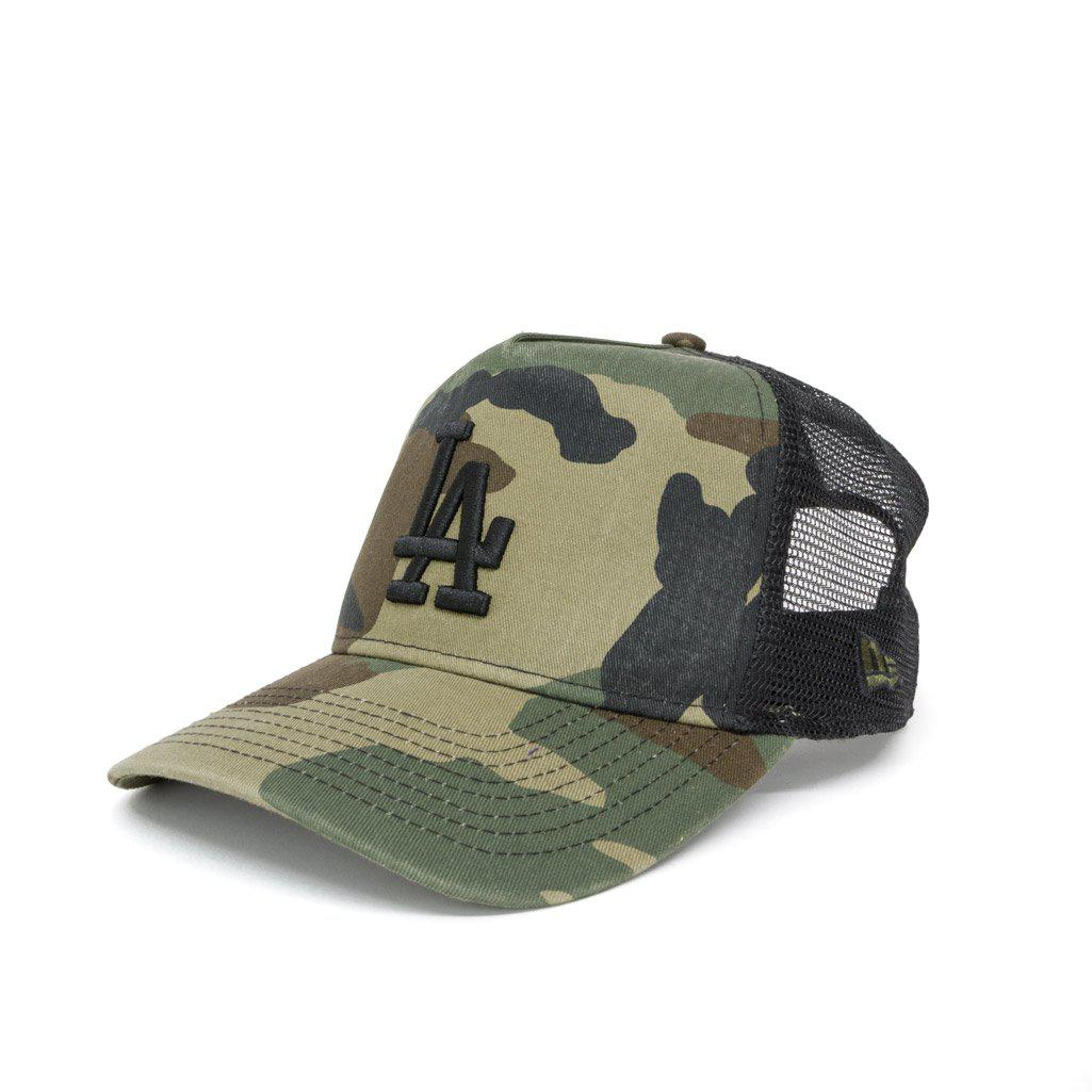 0002de132e2 Lyst - KTZ Los Angeles Dodgers Washed Camo A Frame 9forty Cap in ...
