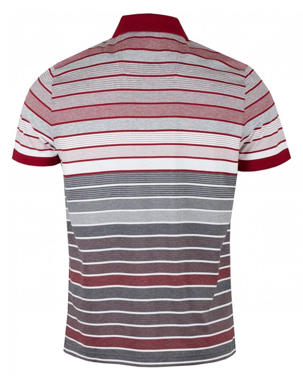 da7677a87 Lyst - BOSS Athleisure Paddy 3 Multi Striped Mercerised Polo for Men