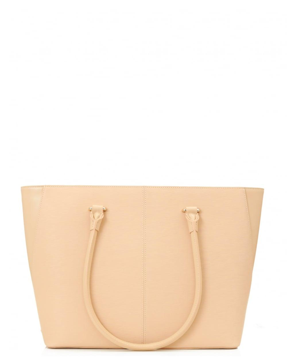 9c1f36206a6 Lyst - Ted Baker Tinsley Curved Bow Large Zip Shopper in Natural