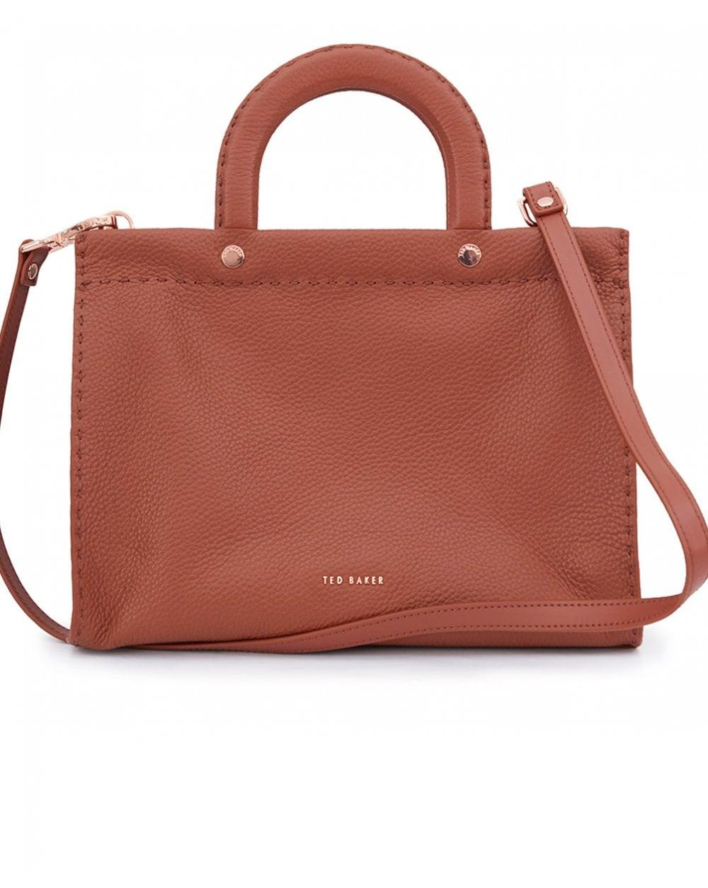 ced9b6abd0 Ted Baker - Brown Leather Stitch Detail Small Tote Bag - Lyst. View  fullscreen