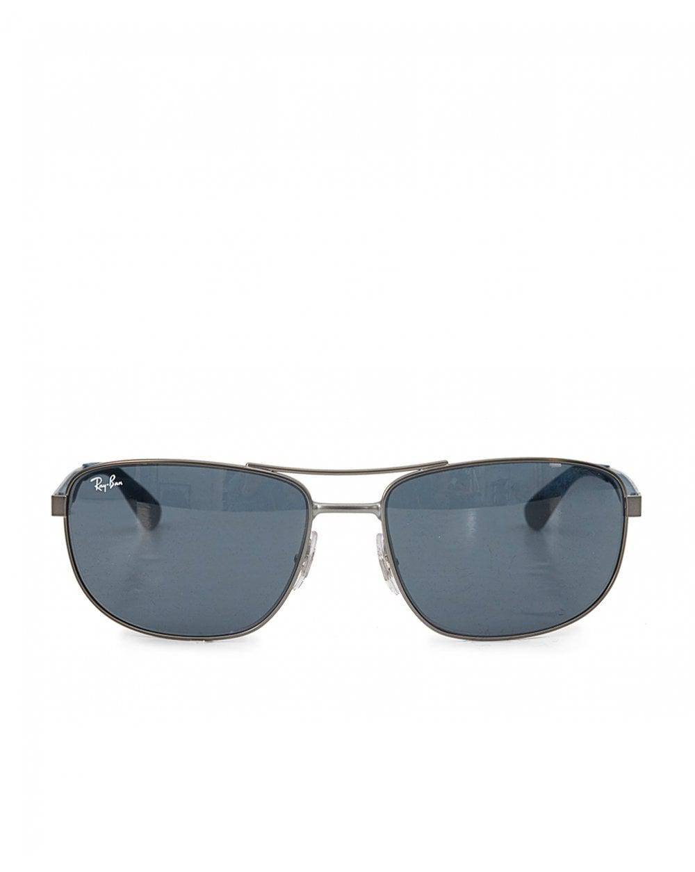 b4cf23957a Ray-Ban Double Bridge Square Sport Sunglasses in Blue for Men - Lyst