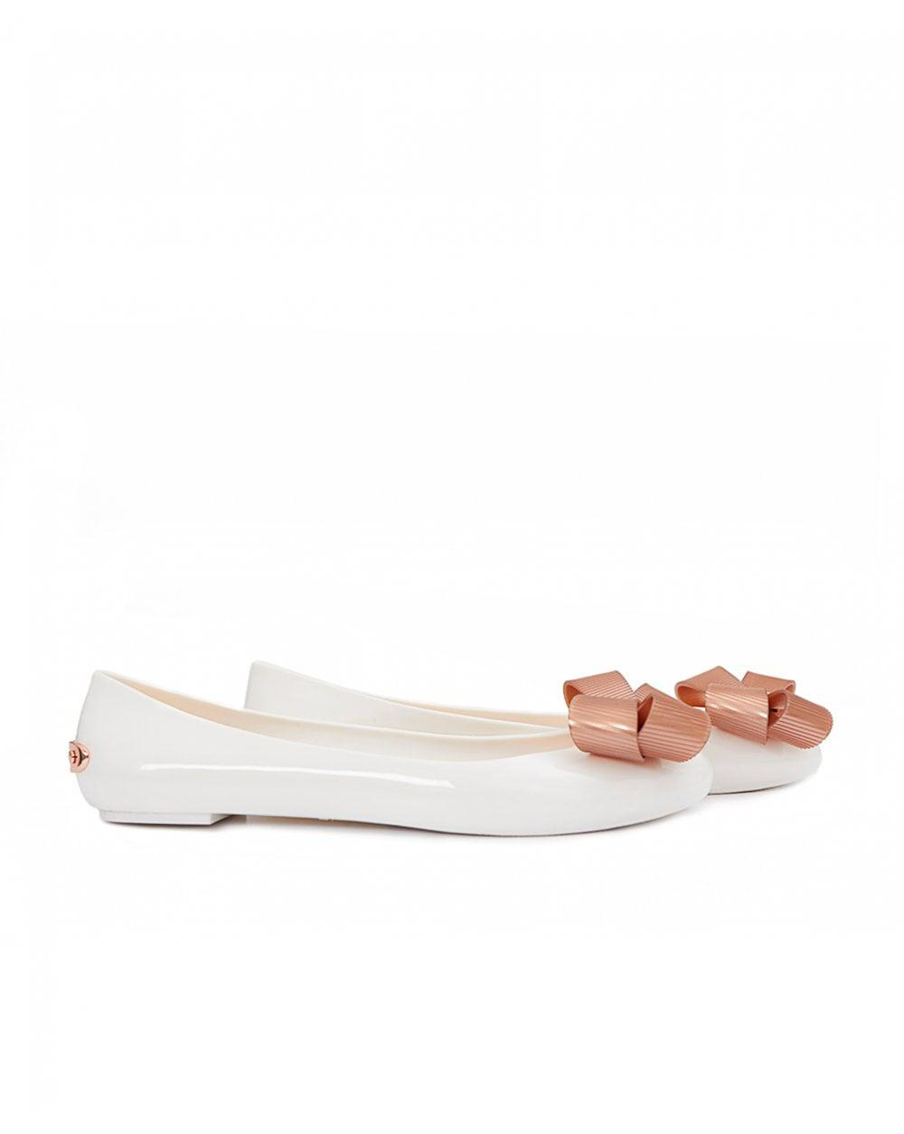 3318d671b Ted Baker Bow Front Jelly Pumps in White - Lyst