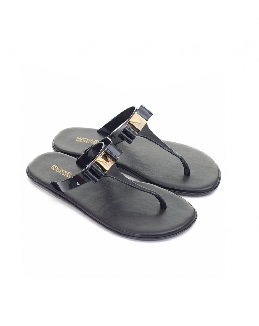 7727301d8a Lyst - Michael Kors Caroline Jelly Thong Sandals in Black