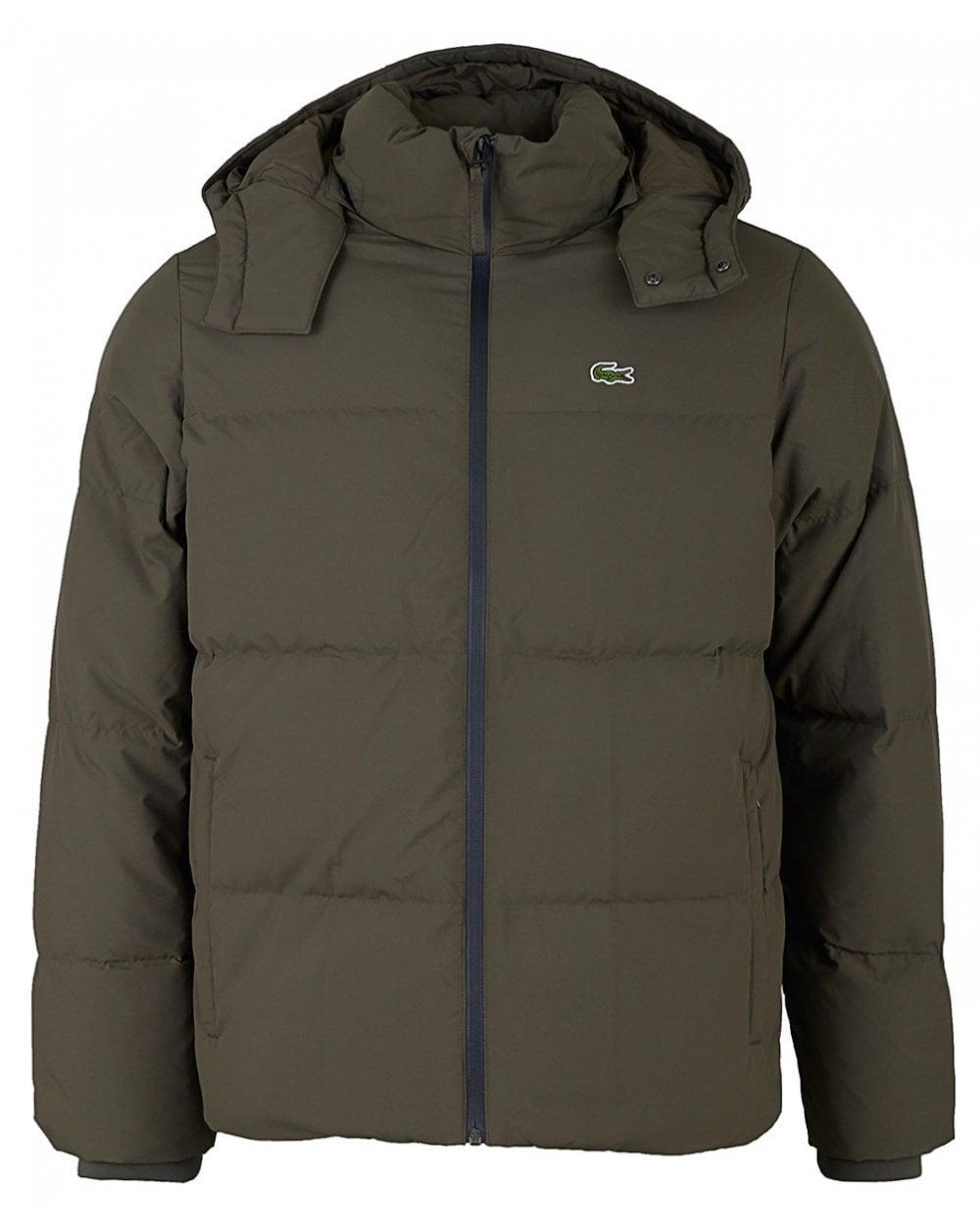 8d845b140a5df4 Lyst - Lacoste Heavy Padded Hooded Jacket in Green for Men