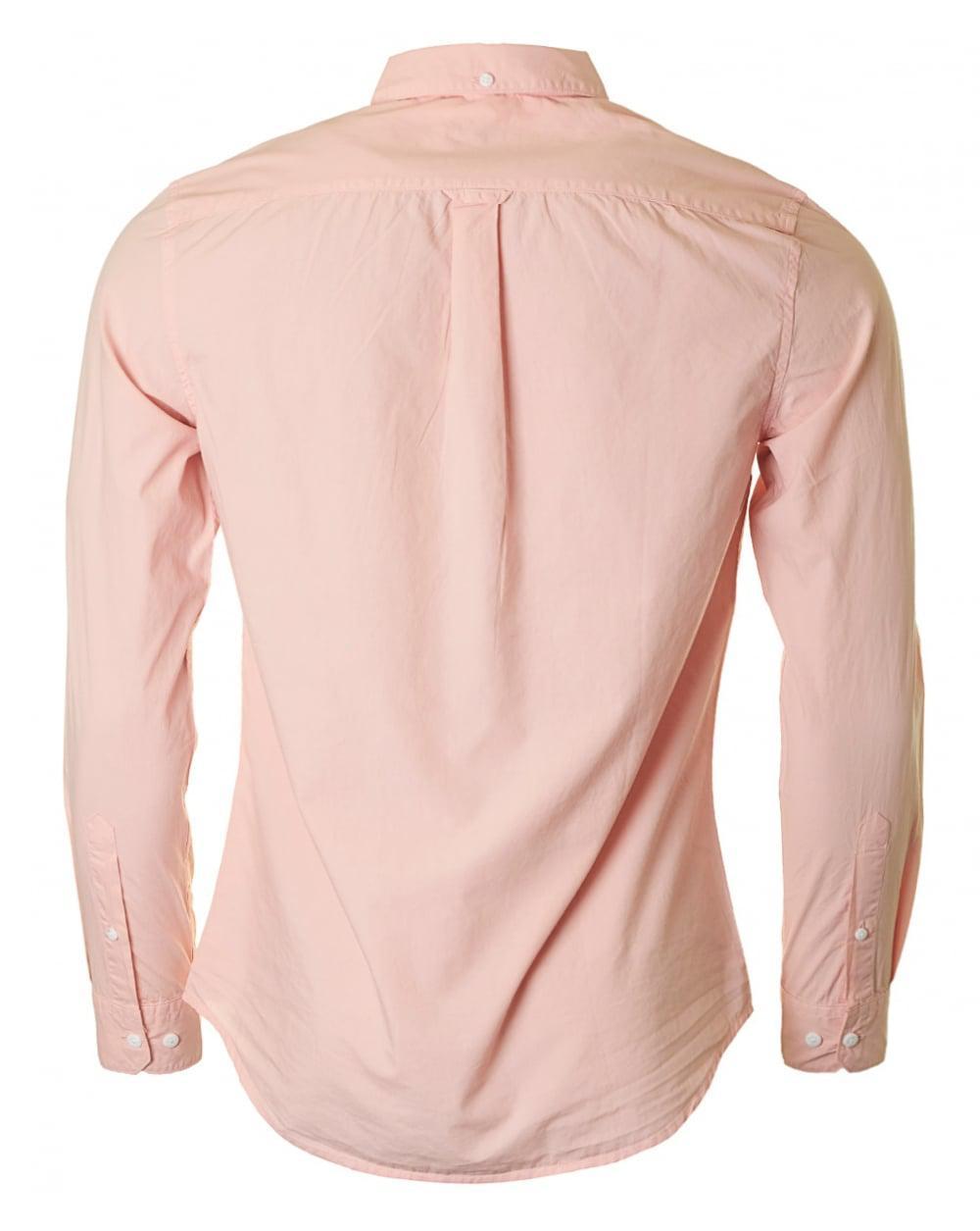 723629bddf67 Farah Farley Long Sleeved Poplin Shirt in Pink for Men - Save 47% - Lyst