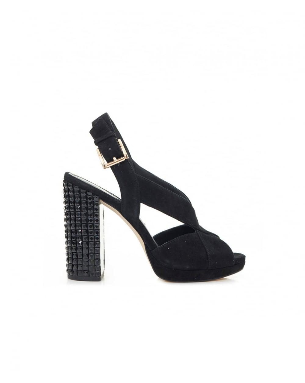 7727eb391588 Lyst - Michael Kors Becky Platform Studded Heel Shoes in Black