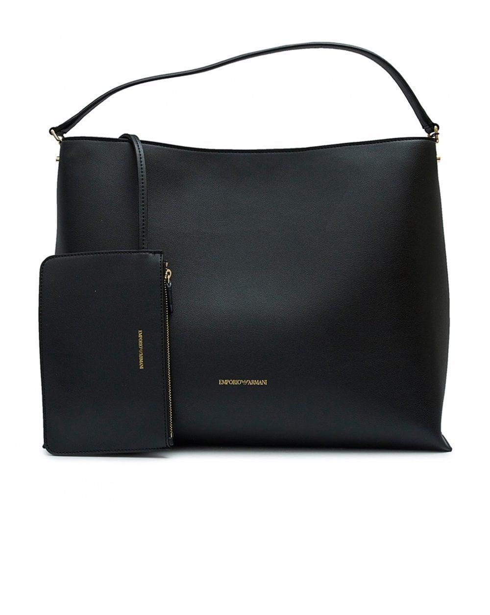 c04a0b5bce9a Emporio Armani - Black Oversized Shopper - Lyst. View fullscreen