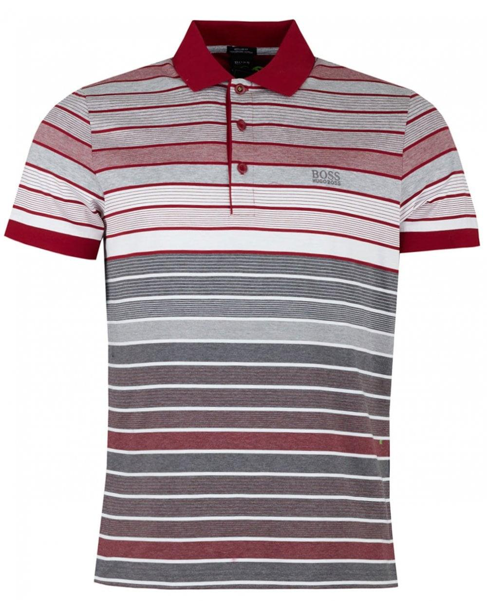 6d0f7477a Lyst - BOSS Athleisure Paddy 3 Multi Striped Mercerised Polo for Men
