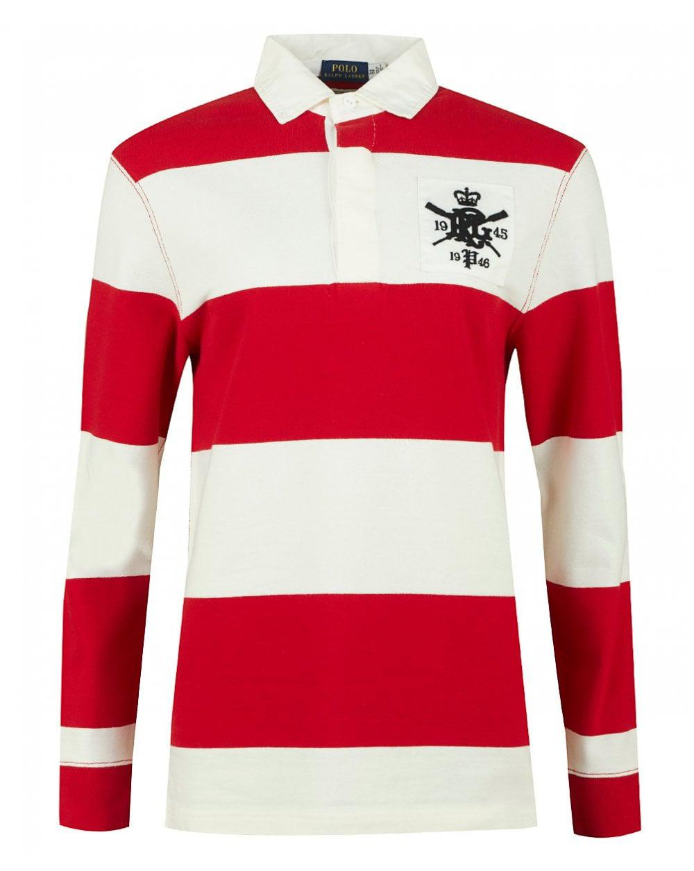 Lyst Polo Ralph Lauren Logo Oversized Rugby Shirt In Red