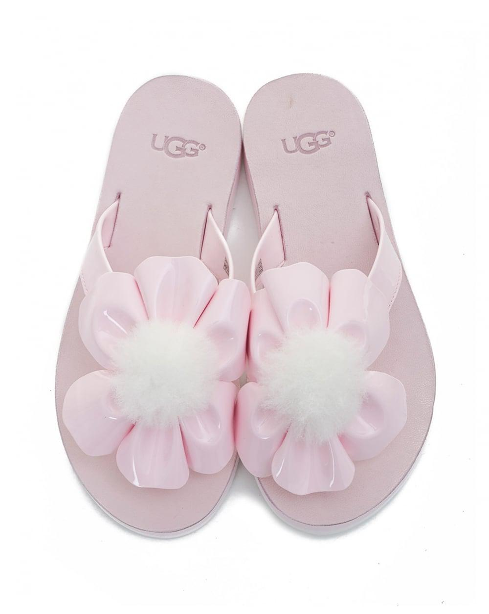 Ugg - Pink Poppy Flower Flip Flops - Lyst. View fullscreen
