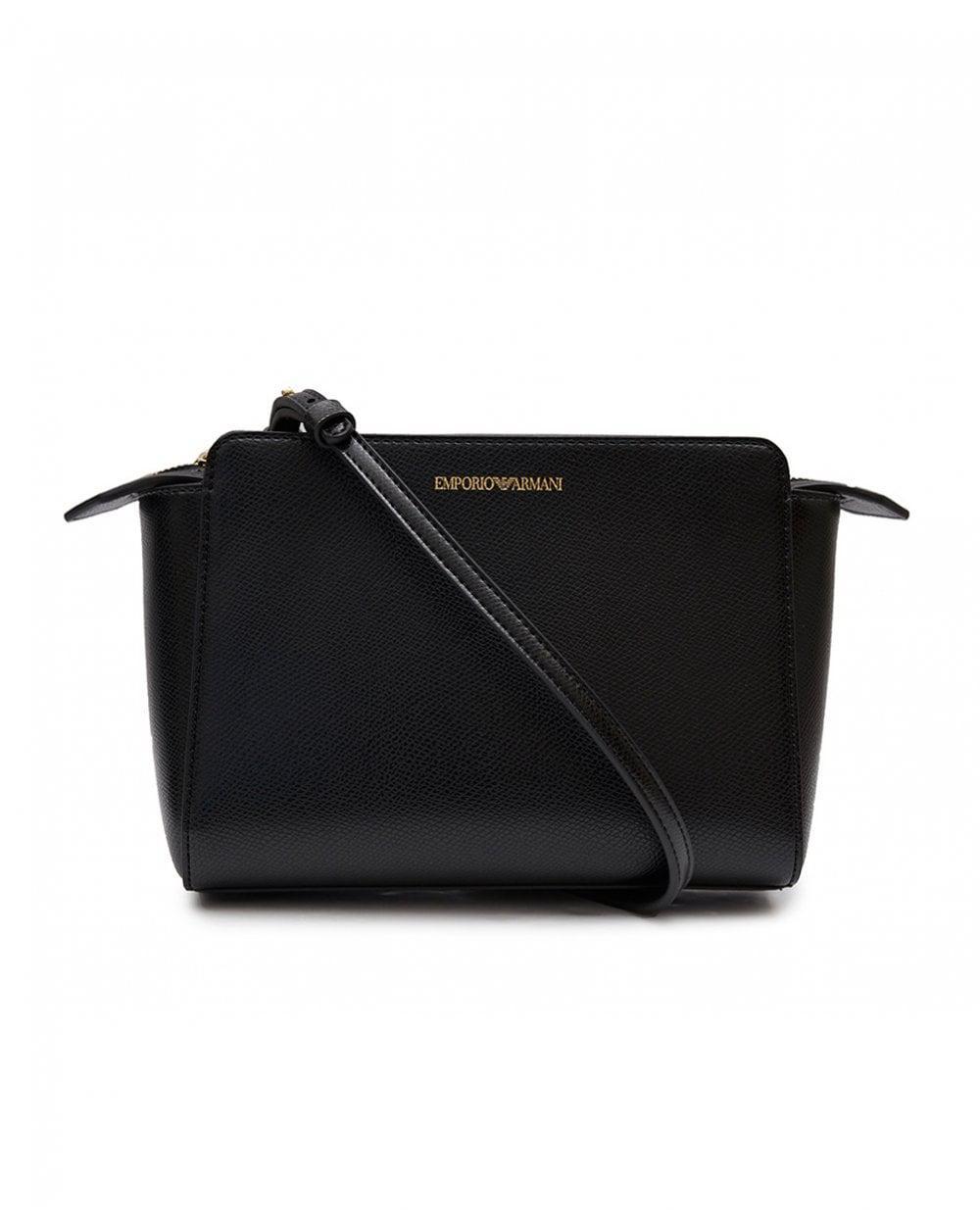587ebaba23b4 Lyst - Emporio Armani Plain Cross Body Bag in Black
