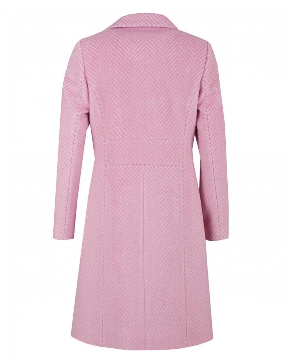 78d7dd6a6d2125 Lyst - Ted Baker Chevron Wool Coat in Pink