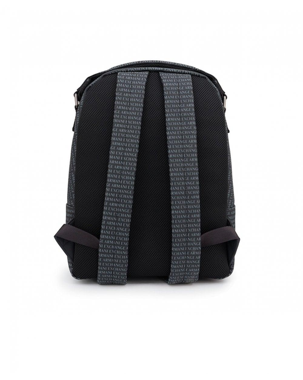 8d006186573d Lyst - Armani Exchange All Over Logo Backpack in Black for Men