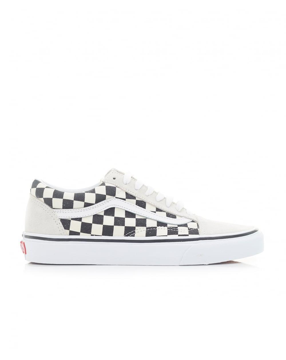 2729f0cc66 vans old skool trainers black white mix check
