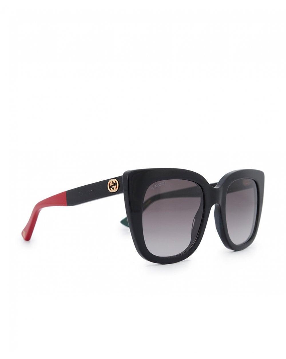 ceae47eacfb23 Lyst - Gucci Gucci Socks Plastic Sunglasses in Black