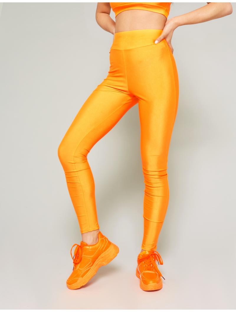 7acedb695b8aea Public Desire Neon Orange Crop Top And Legging Set in Orange - Lyst