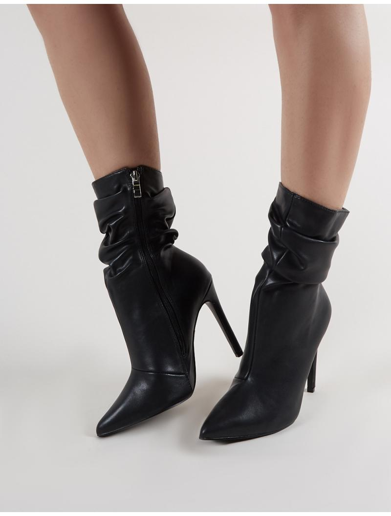 828f37e00bb Public Desire Adorn Heeled Ankle Boots In Black in Black - Lyst