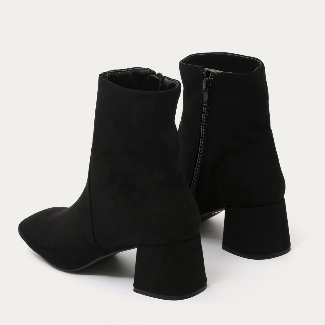 06666005889a Lyst - Public Desire Blu Squared Toe Block Heel Ankle Boots In Black ...