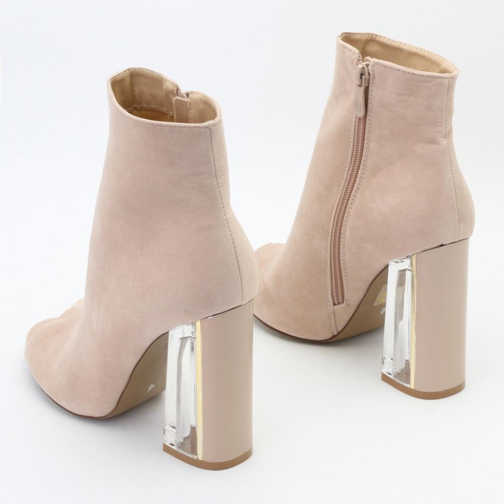 7e9344ccf0 Lyst - Public Desire Jenny Perspex Heeled Ankle Boots In Nude Faux ...