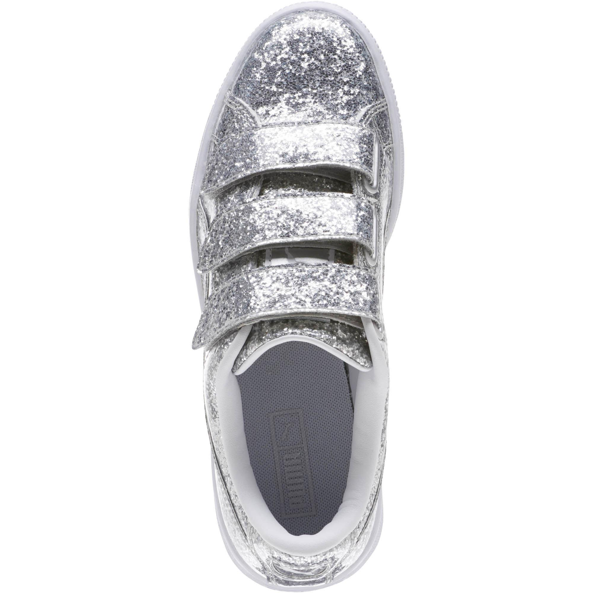 0747dd850ae Lyst - PUMA Basket Strap Glitter Women s Sneakers in Metallic