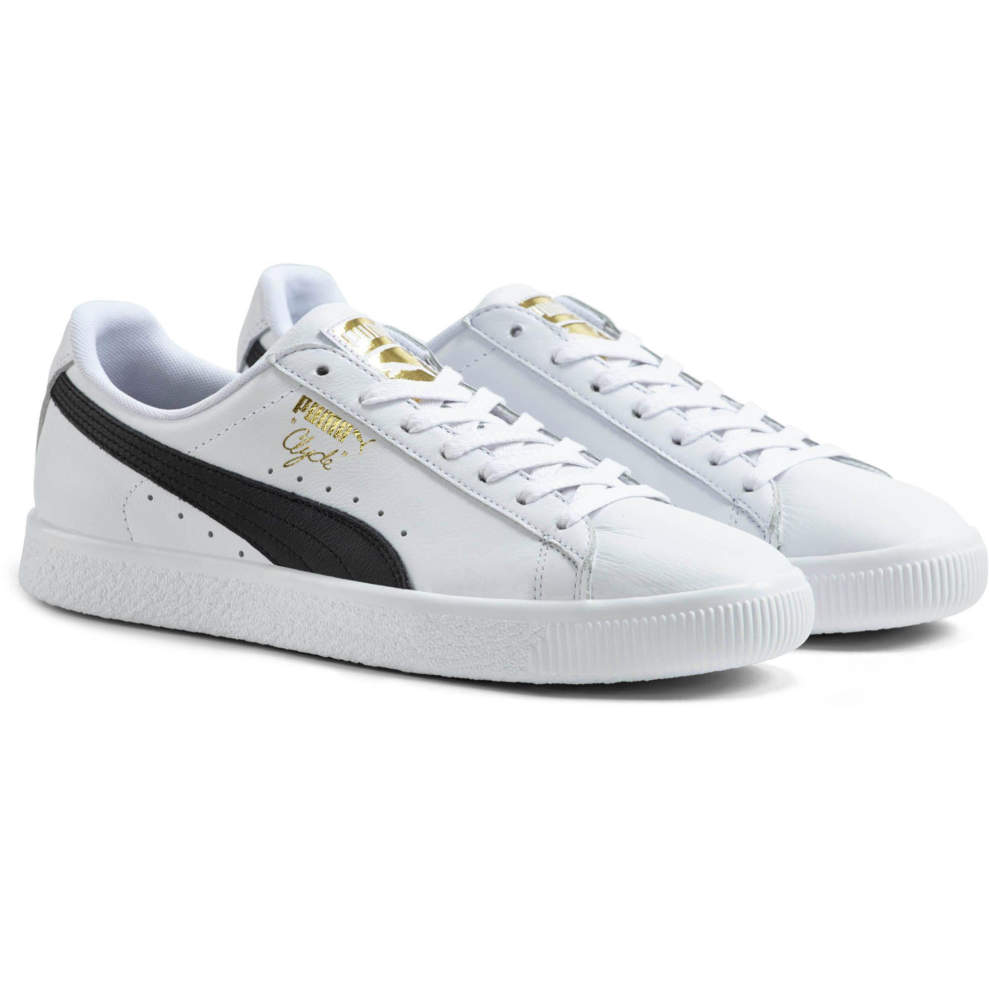 e6e2db0597fc02 Lyst - PUMA Clyde Core Foil Men s Sneakers in White for Men - Save 21%