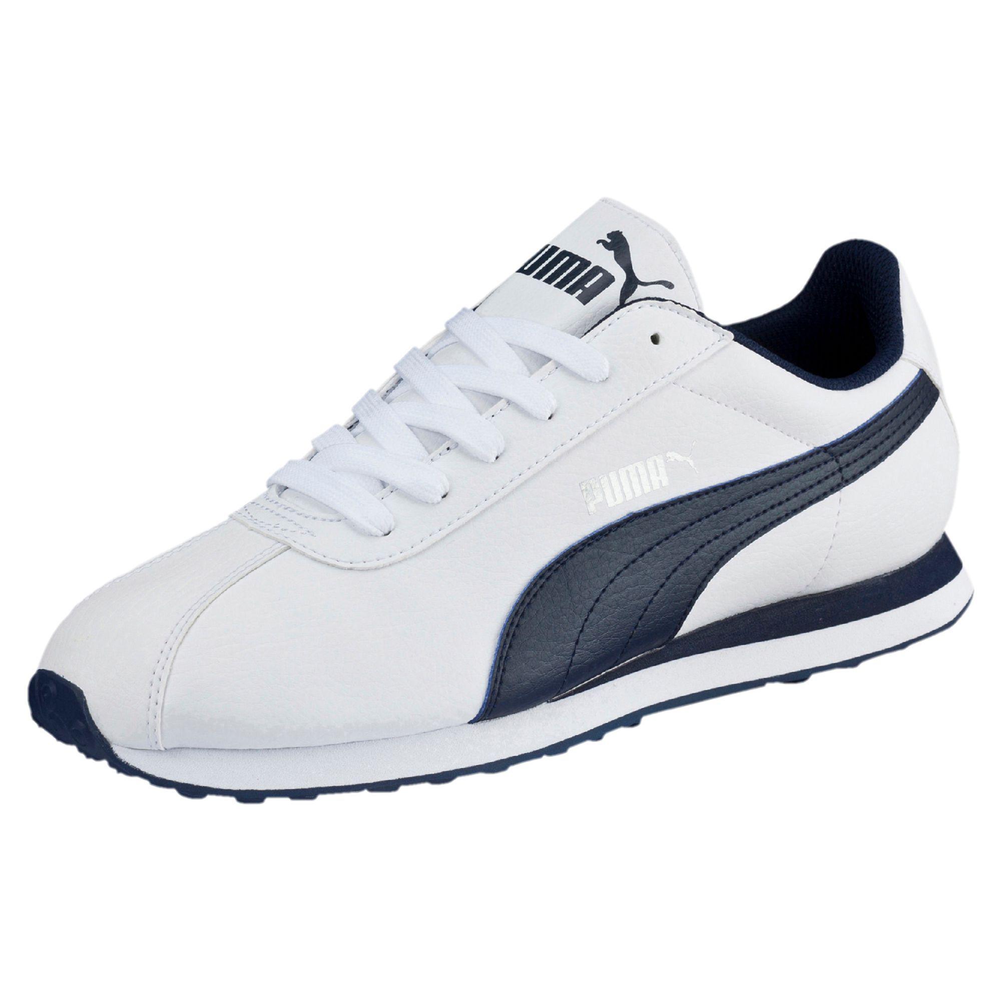 PUMA Men's Turin Fashion Sneaker, White-Dark Shadow, 11.5 M US
