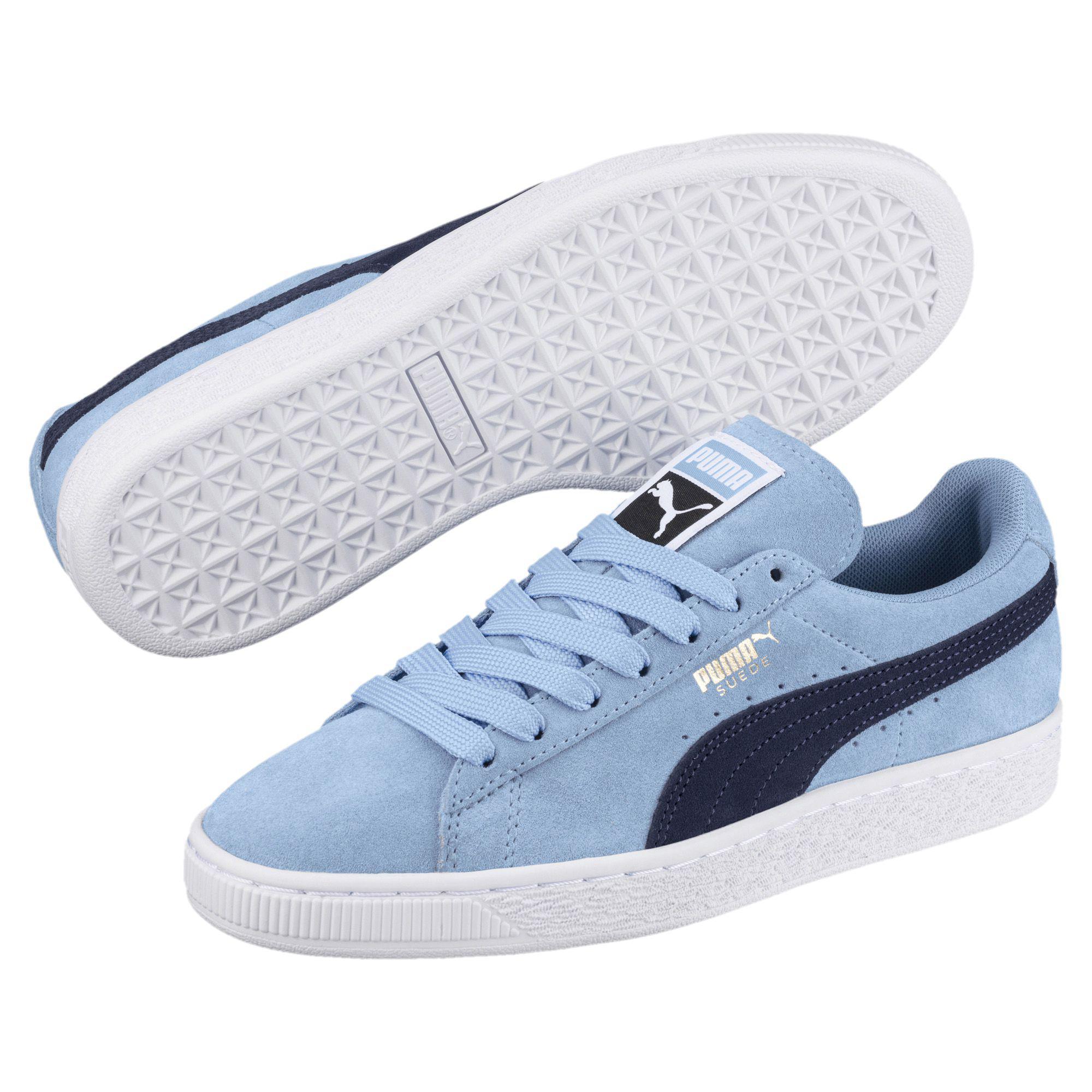 a3b686120aec51 PUMA - Blue Suede Classic Women s Sneakers - Lyst. View fullscreen