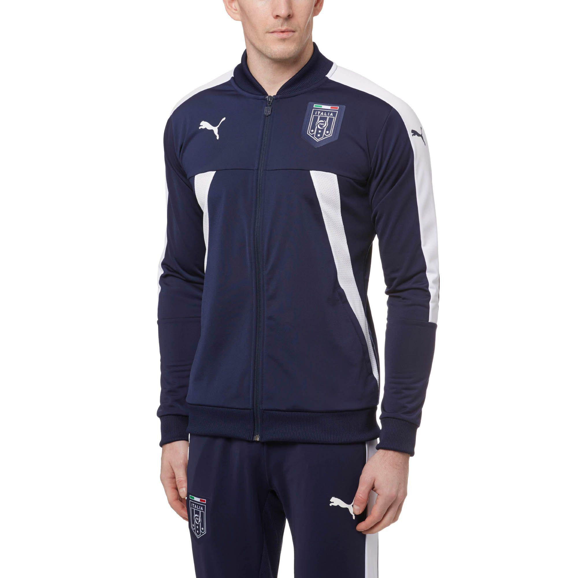 824b7d0c9d7f Lyst - PUMA Figc Italia Stadium Track Jacket in Blue for Men