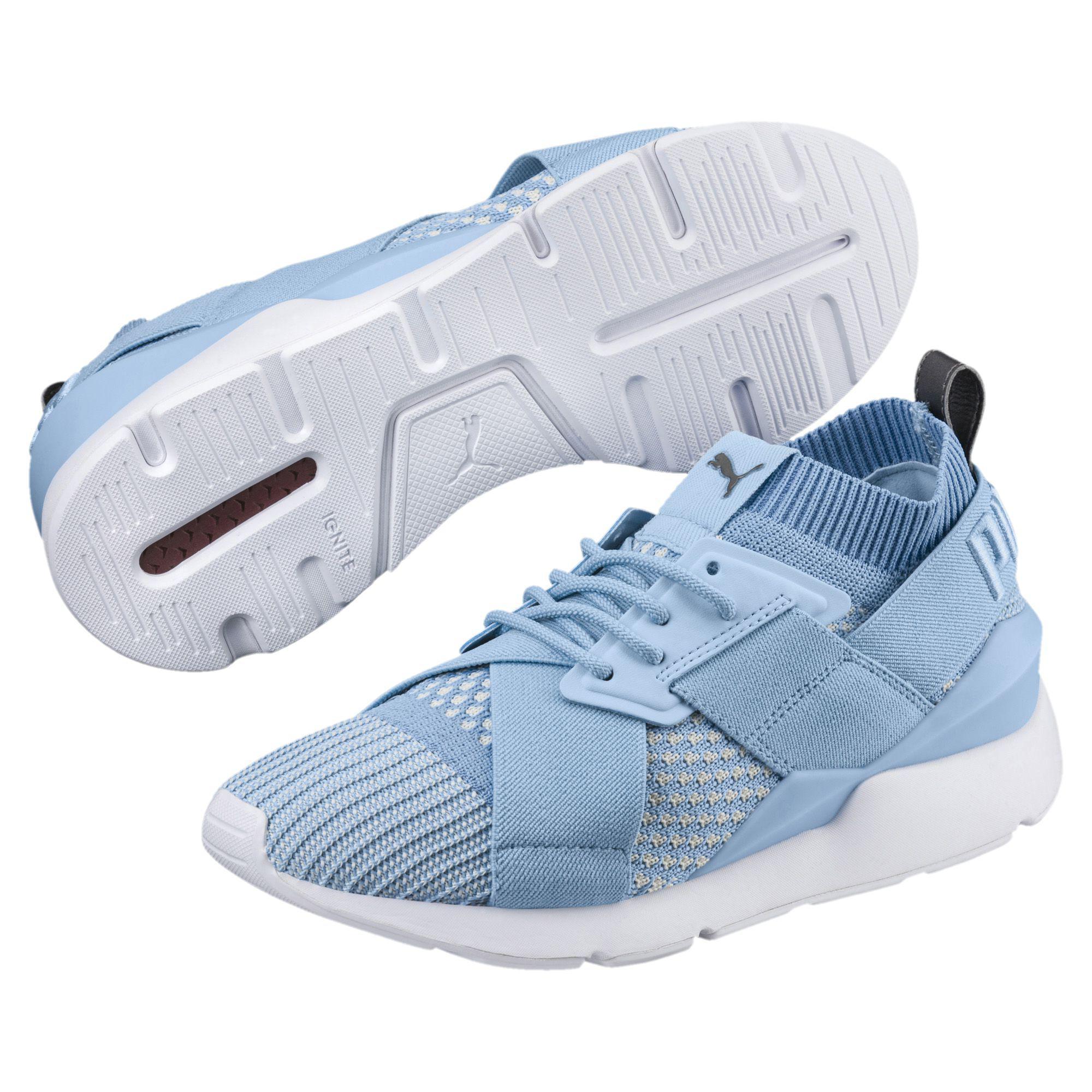 4e77396fce3012 PUMA - Blue Muse Evoknit Women s Sneakers - Lyst. View fullscreen