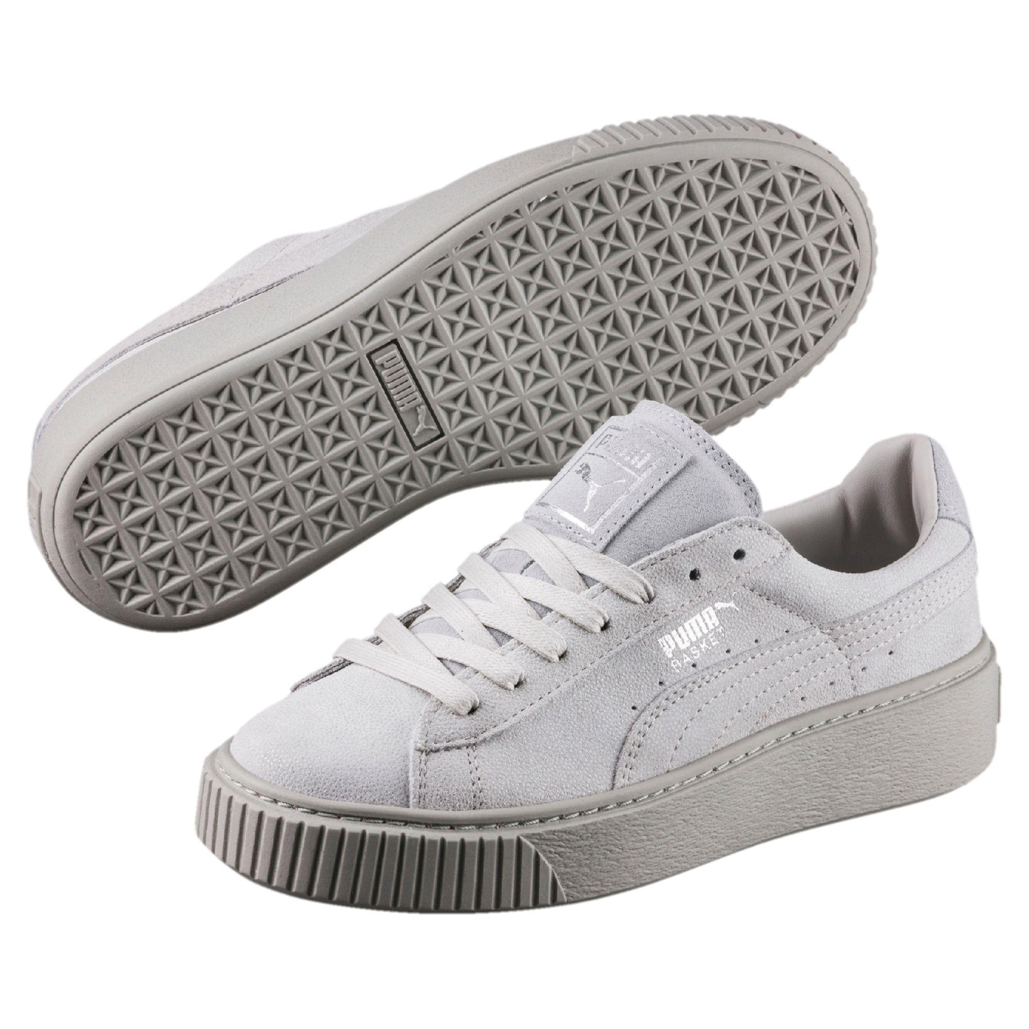 b4f54b6a09c Lyst - PUMA Basket Platform Reset Women s Sneakers in Gray