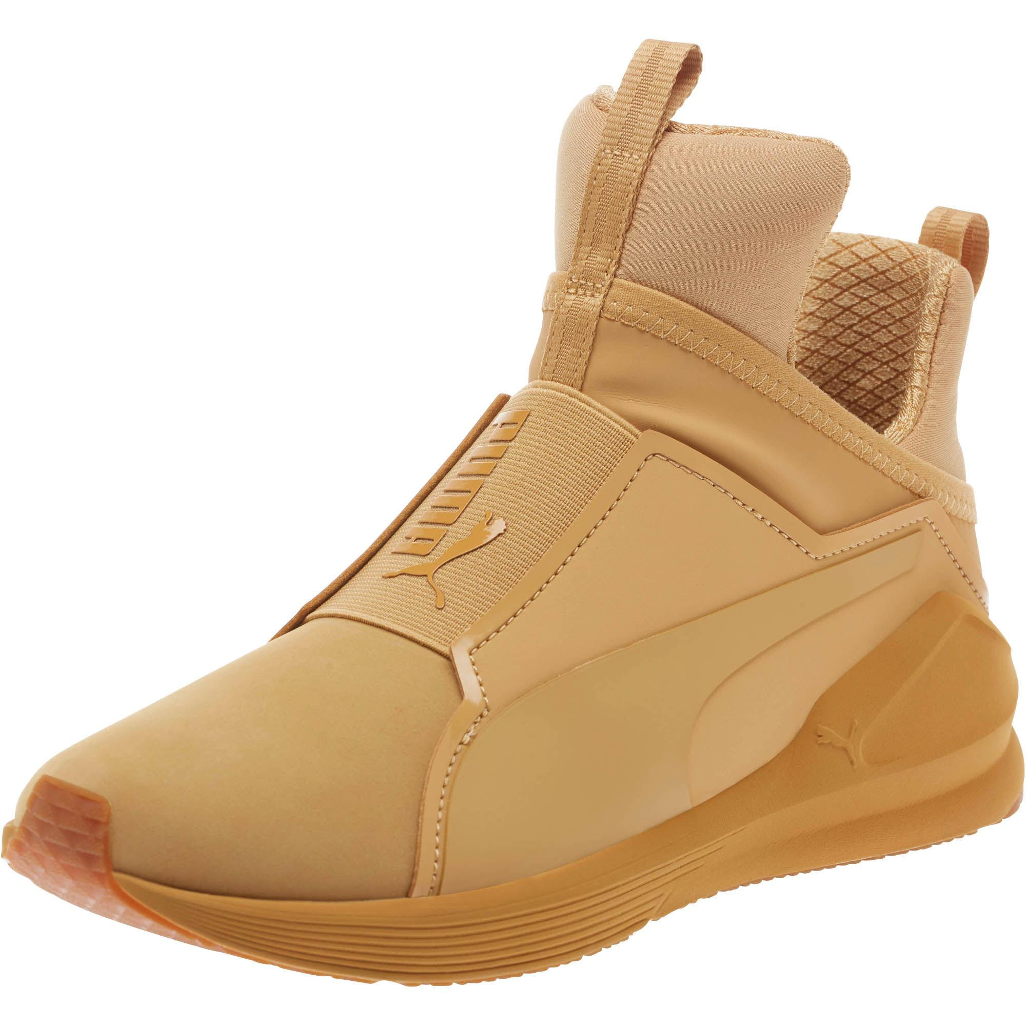 8cd2f36e1f82de Lyst - PUMA Fierce Nubuck Naturals Women s Training Shoes in Brown