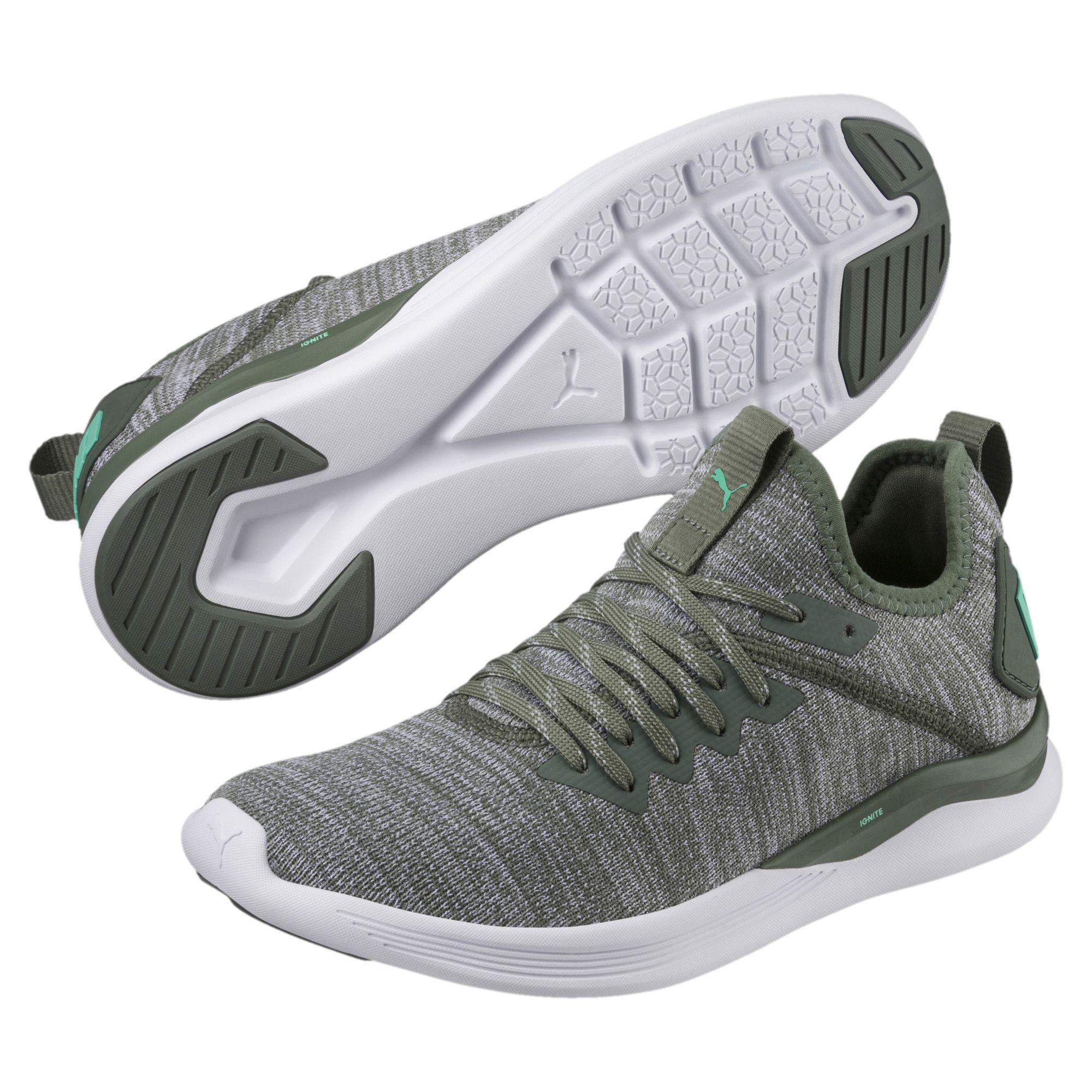 8e3e73040145c5 PUMA - Green Ignite Flash Evoknit Women s Training Shoes - Lyst. View  fullscreen