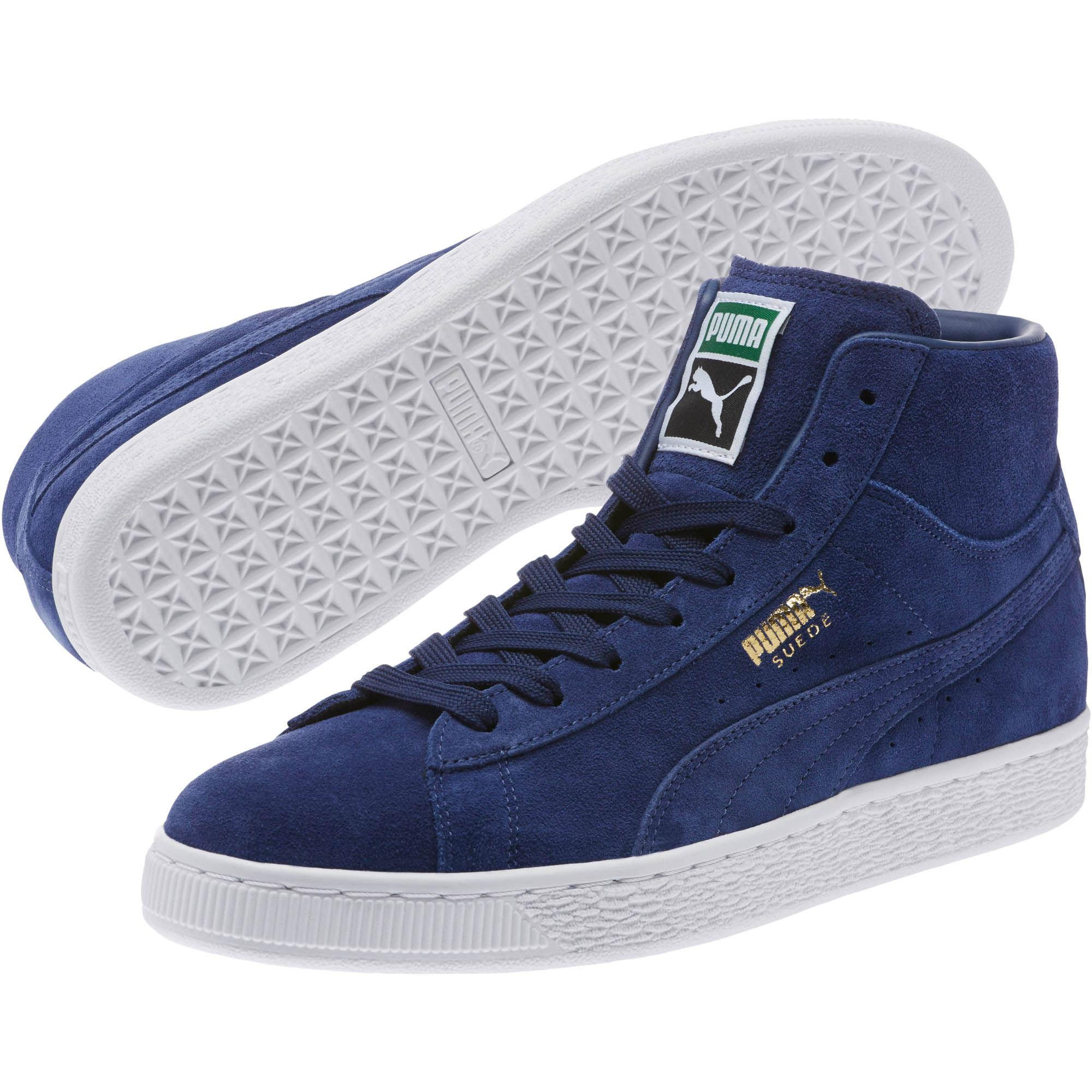 6d53ee2c257 Lyst - Puma Suede Classic Mid Sneakers in Blue for Men