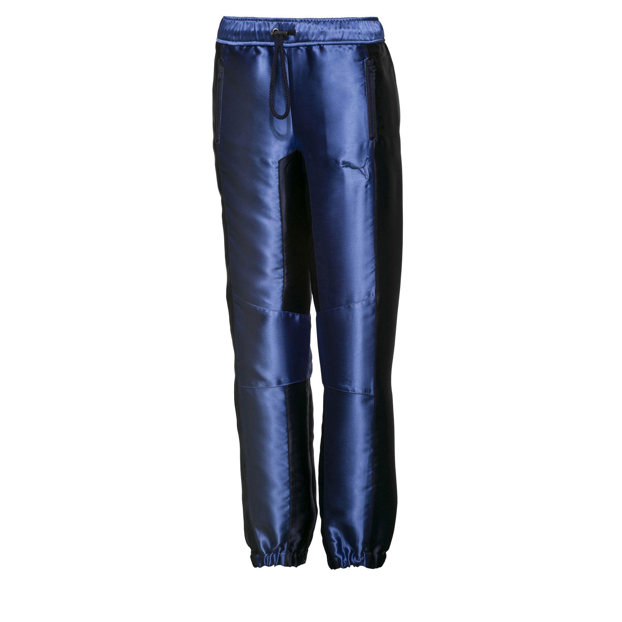 0dd6bd2b526b Lyst - PUMA Fenty Women s Satin Track Pant in Blue