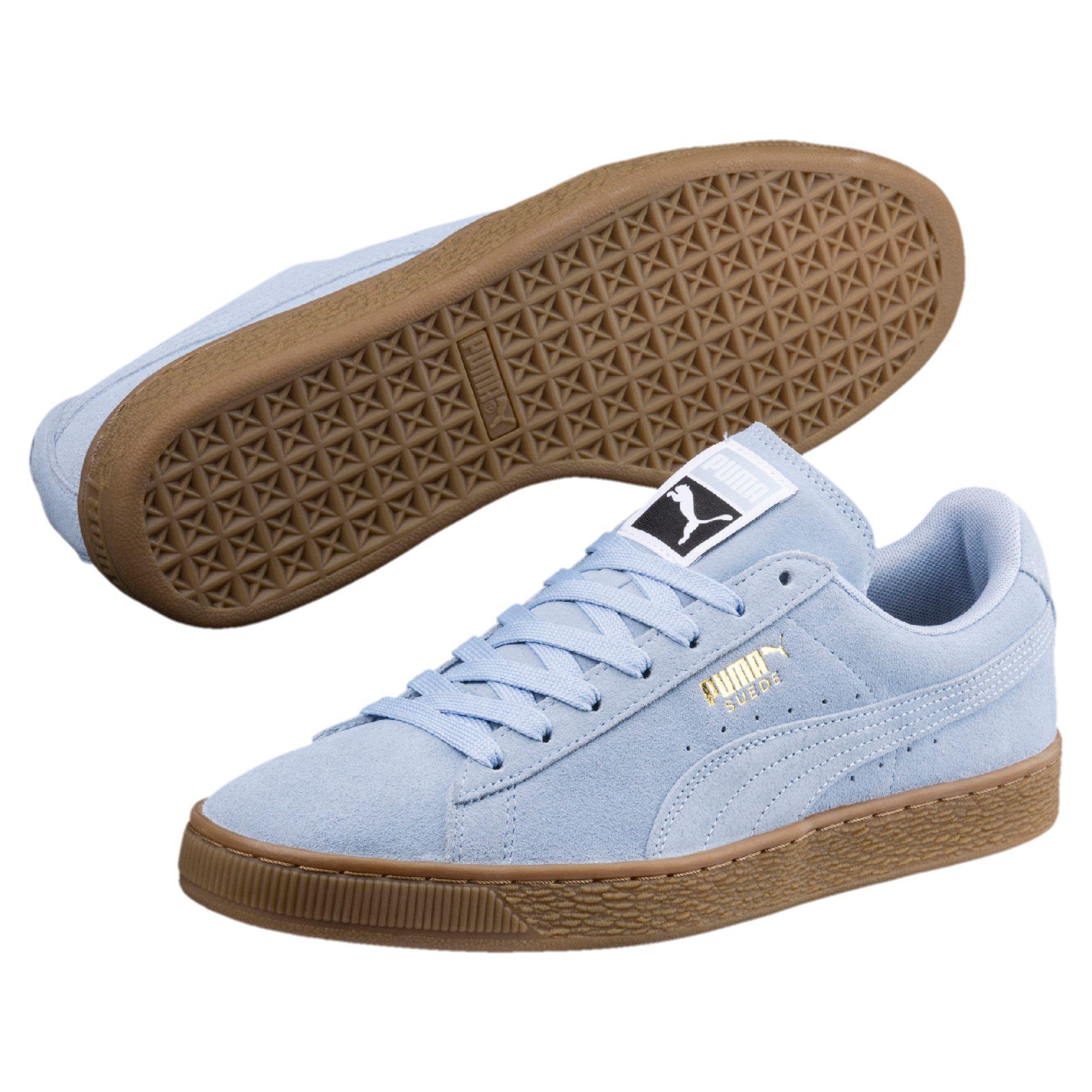 Lyst - PUMA Suede Classic Gum Sneakers in Blue for Men b0d4a0cb8