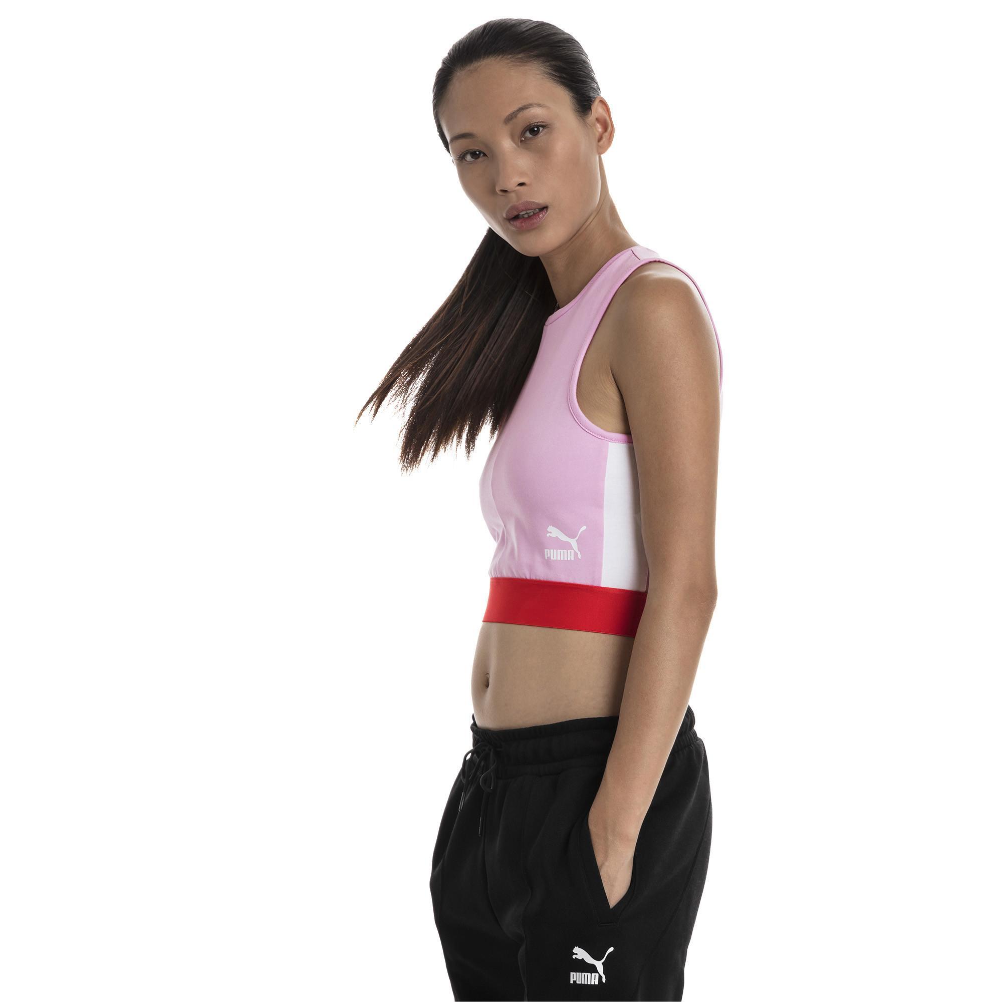 cbf25a740f496c Pink Xtg Puma Lyst Top In Women s Crop x7Y55nvTR