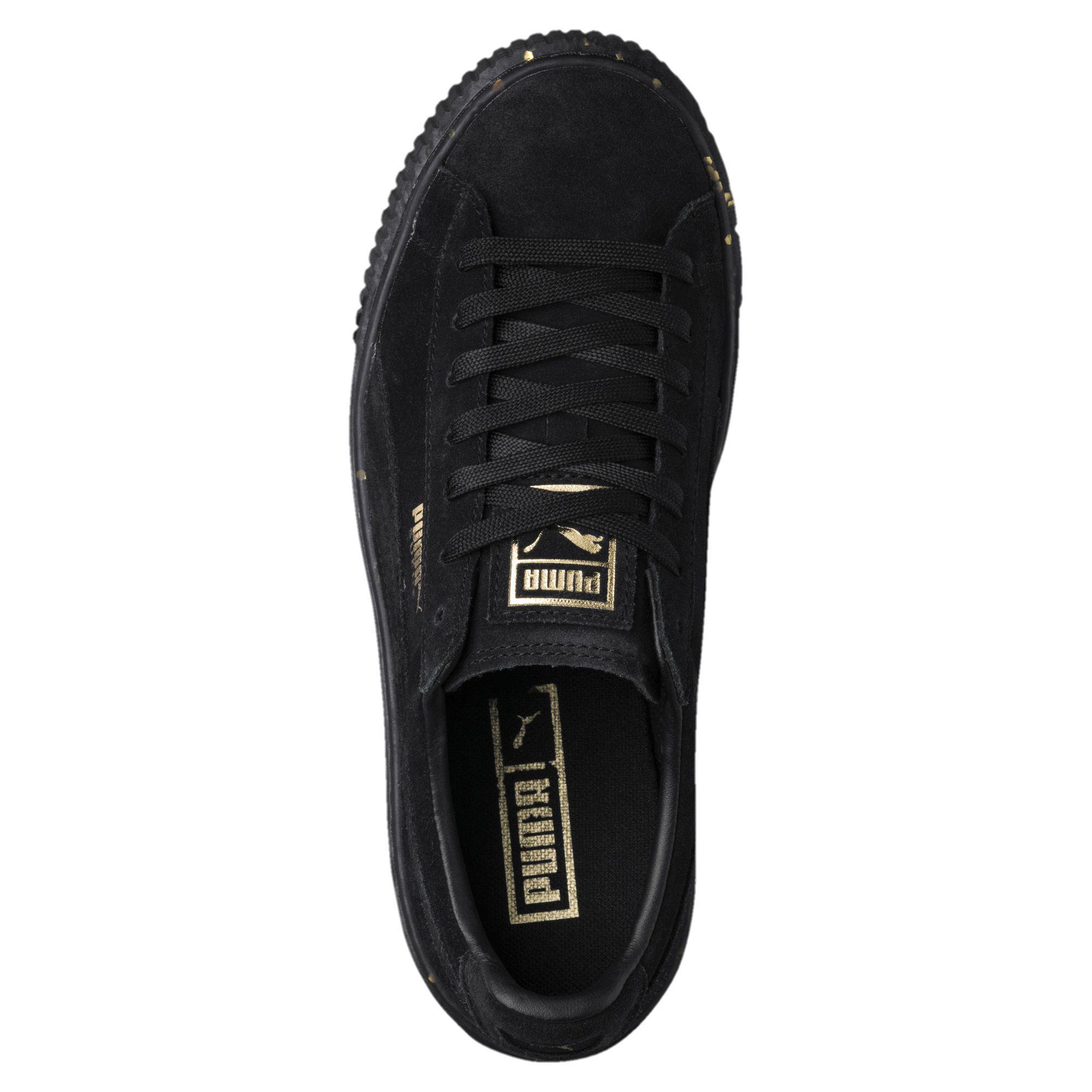 c97d083b574 Lyst - PUMA Suede Platform Celebrate Women s Sneakers in Black