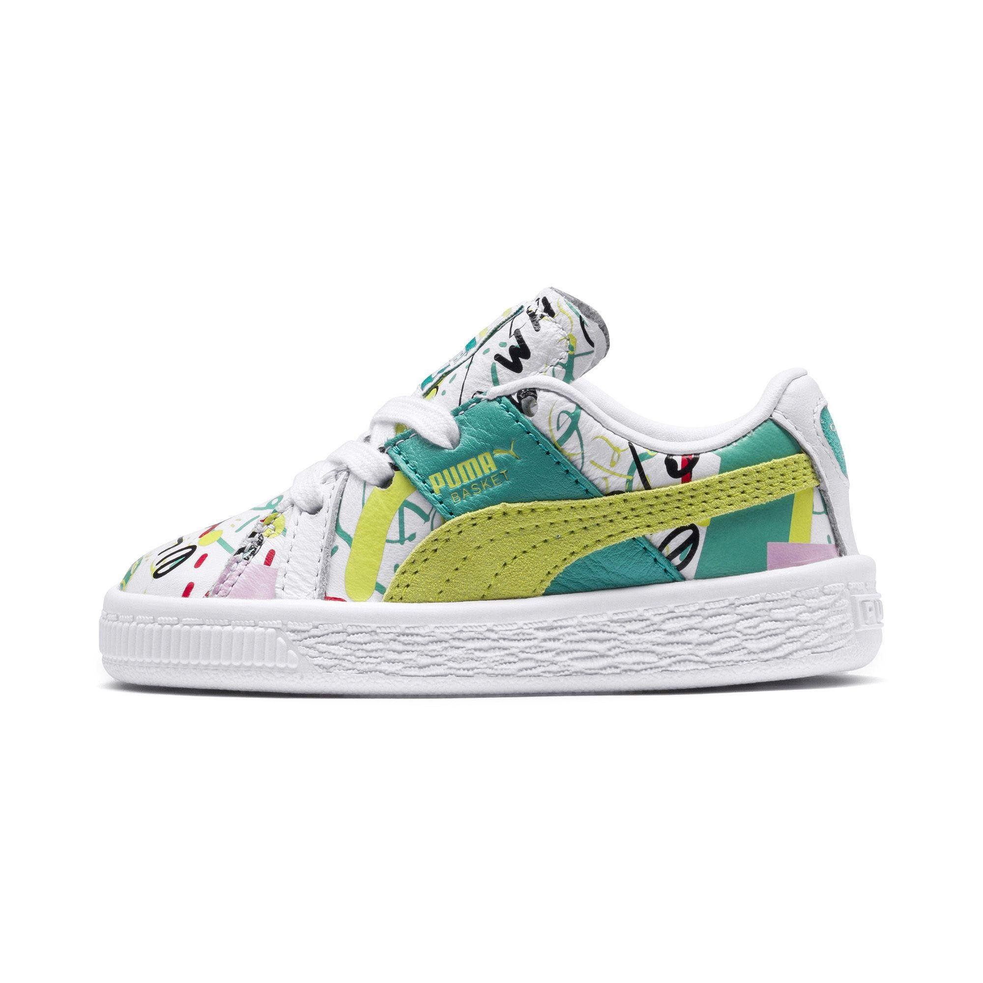 8d77b16aaf6b Lyst - PUMA X Shantell Martin Basket Graphic Infant Sneakers in White