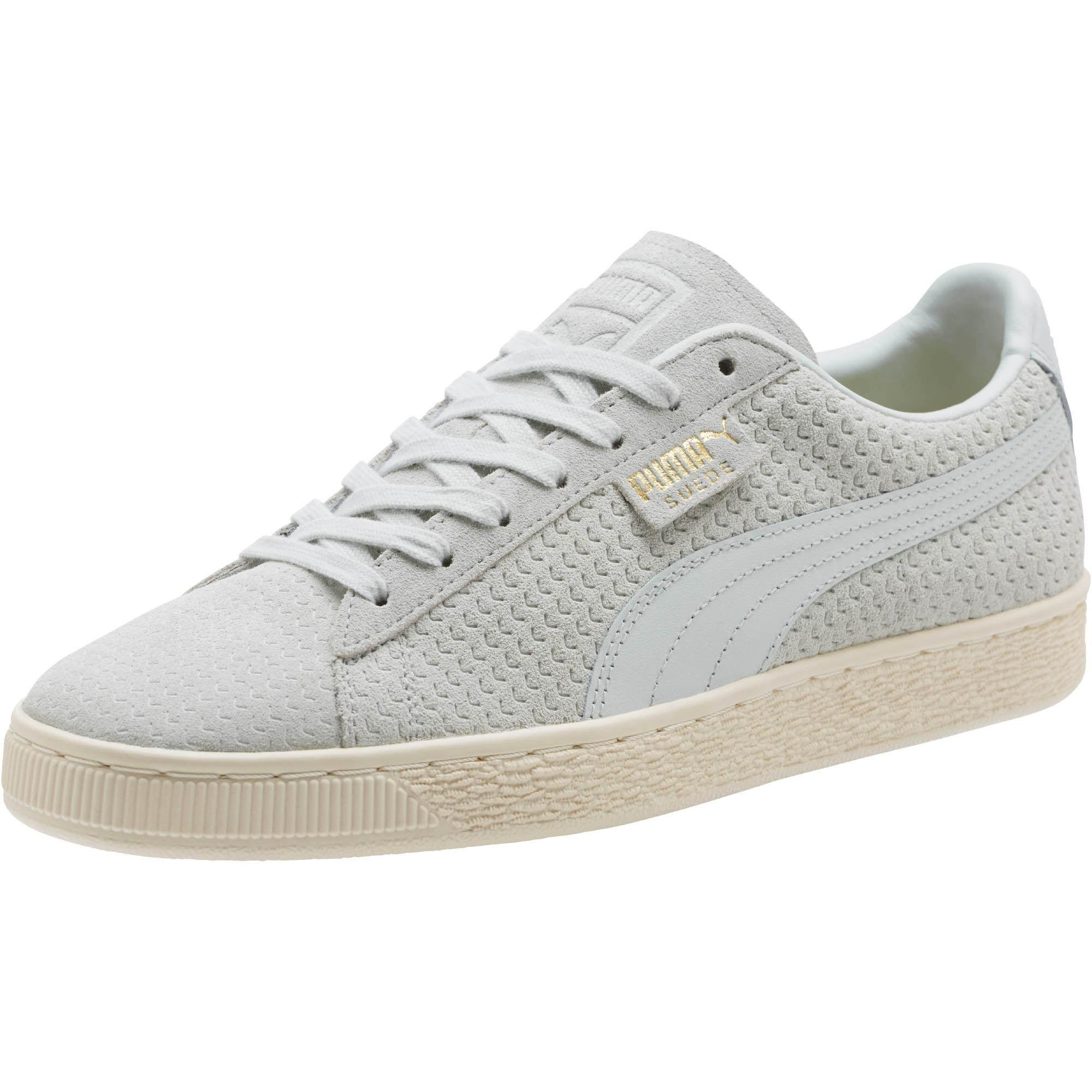 d3337266311689 Lyst - PUMA Suede Classic Perforation Sneakers in White for Men