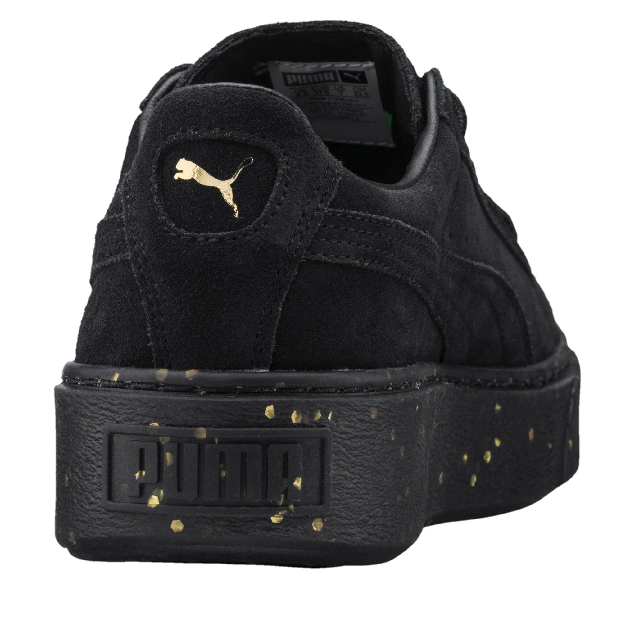 68099d93e21 Lyst - PUMA Suede Platform Celebrate Women s Sneakers in Black