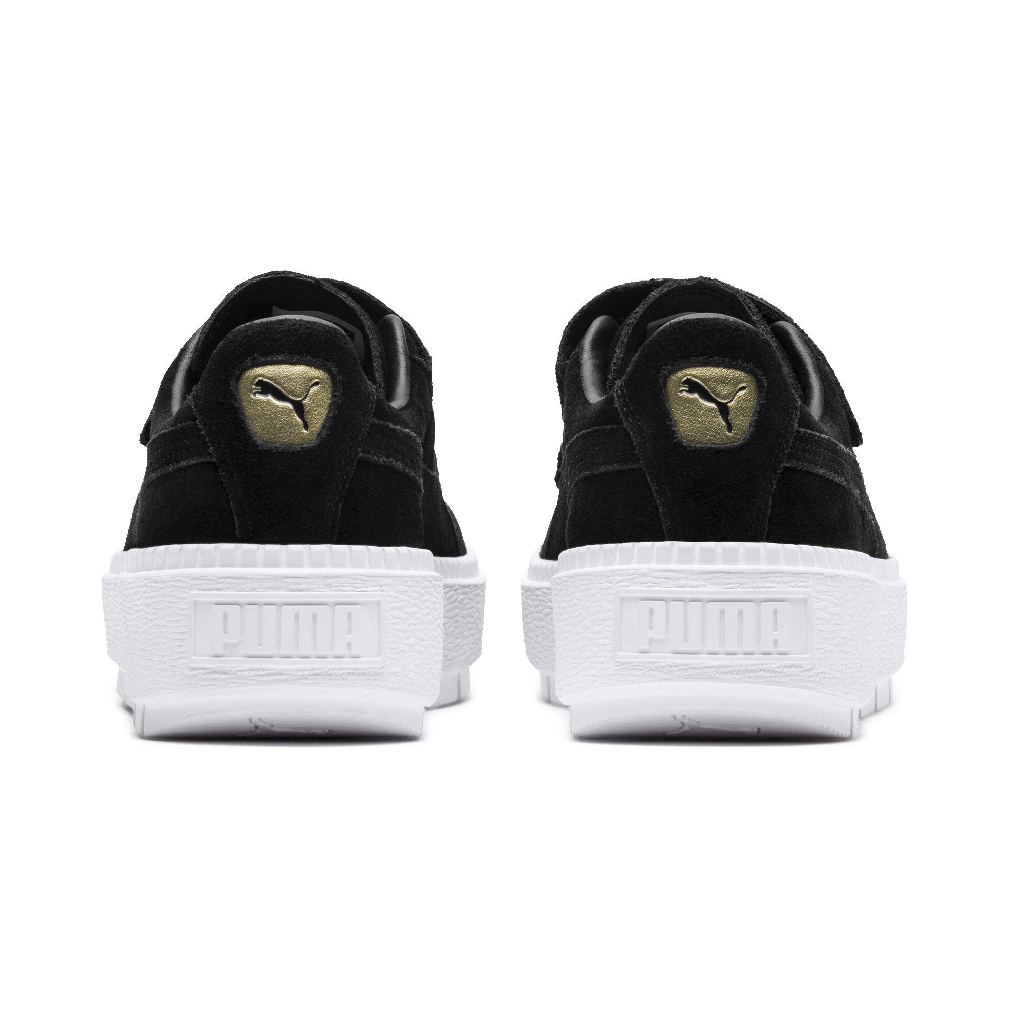 cheap for discount 9efbb f6920 PUMA Platform Trace Strap Women's Sneakers in Black - Lyst