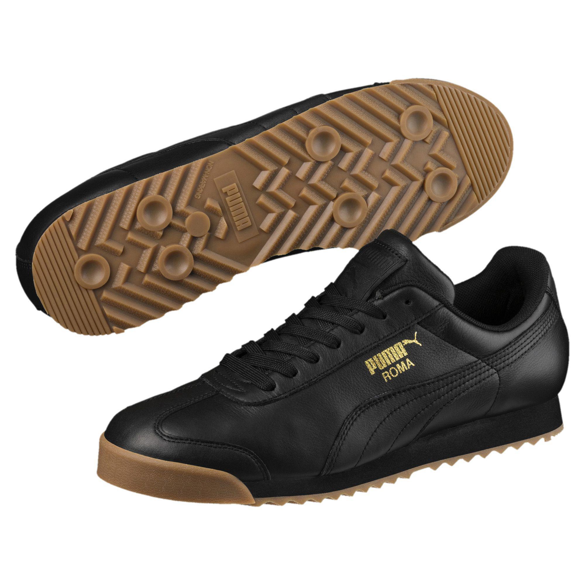 c5f376ca412 PUMA - Black Roma Classic Gum Sneakers for Men - Lyst. View fullscreen